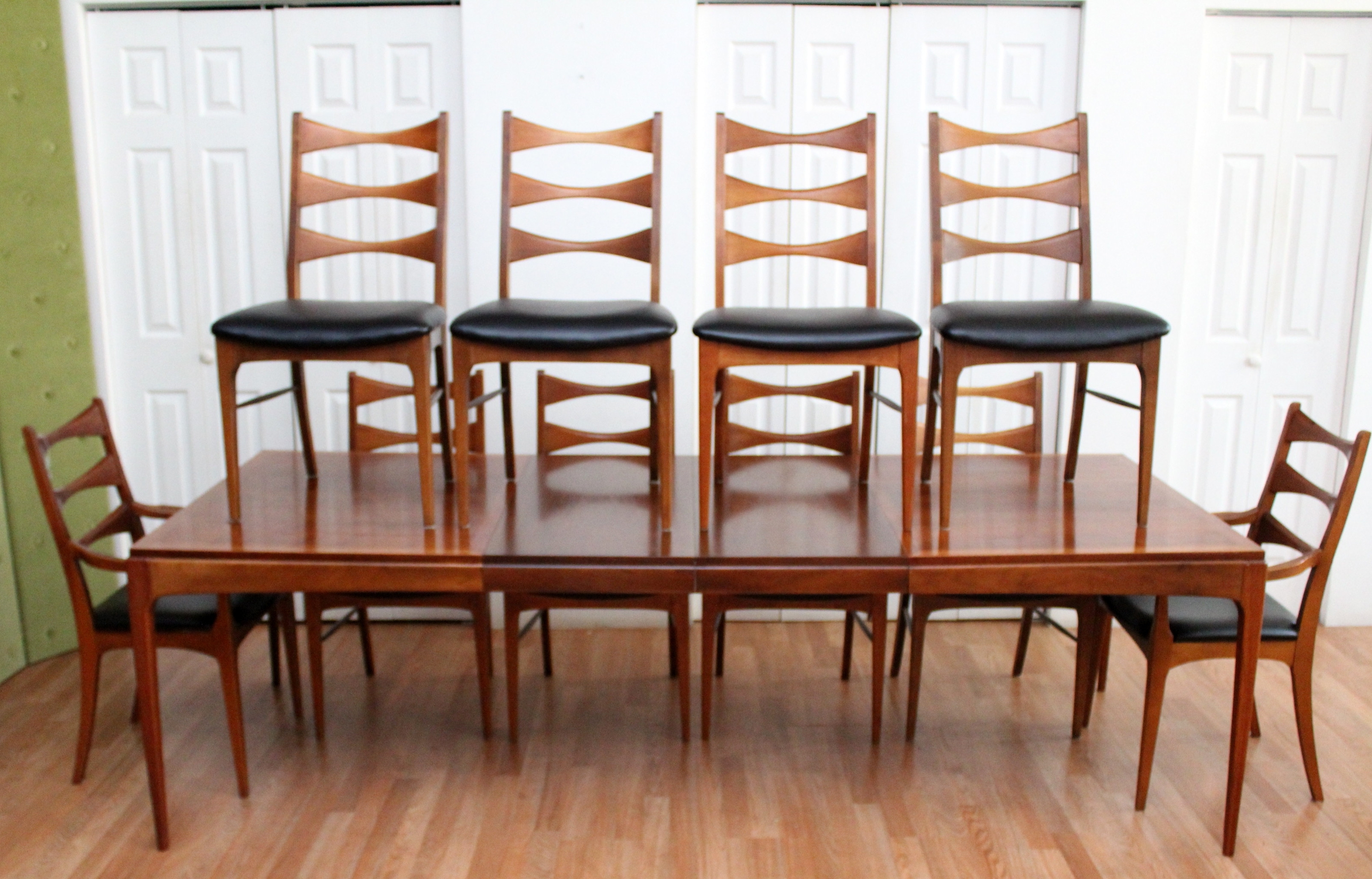Well Known Dining Table And 10 Chairs Inside Lane Walnut Dining Room Table Ten Chairs (View 19 of 25)
