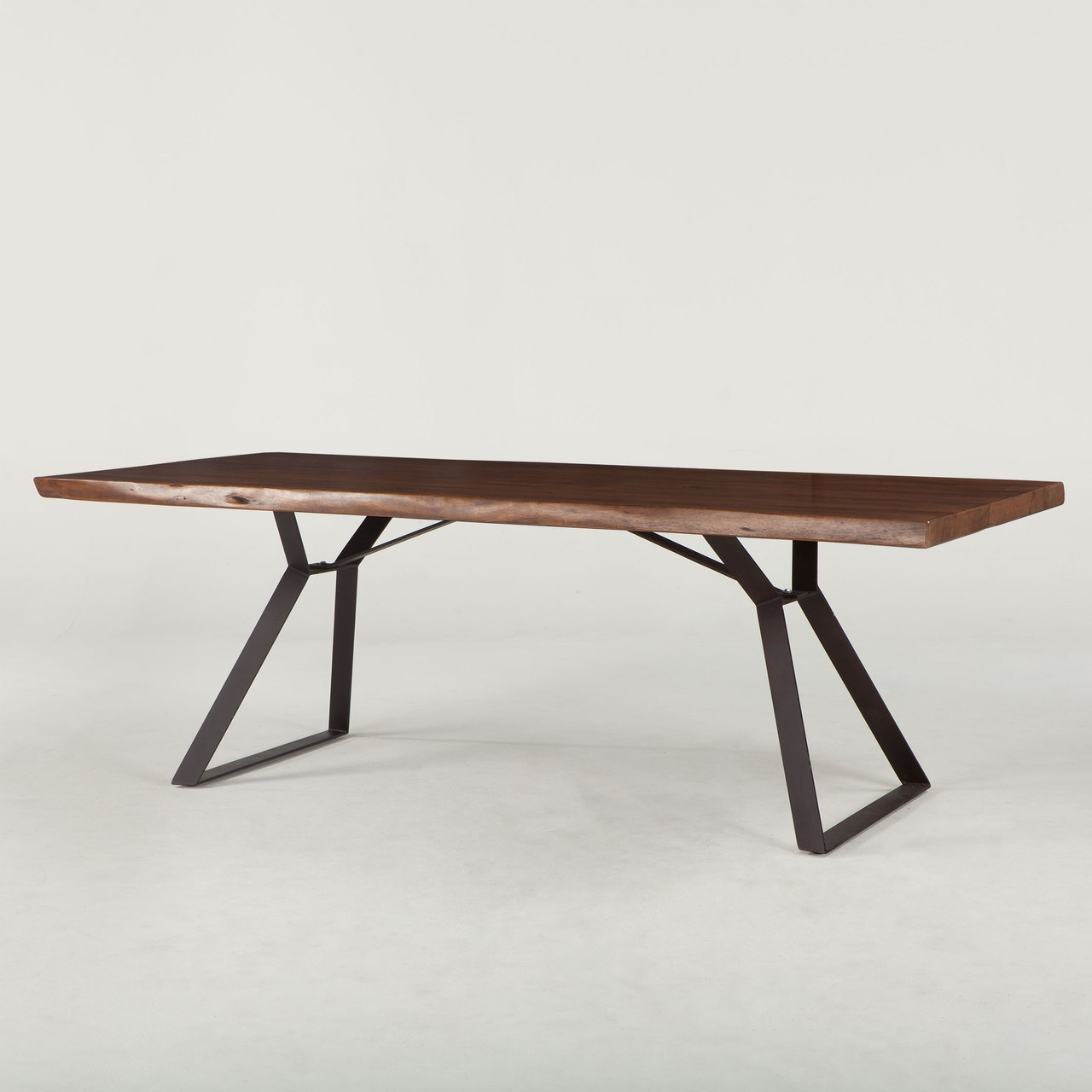 Well Known Dining Tables London For London Loft 106″ Solid Wood Live Edge Dining Table In Walnut W (View 23 of 25)