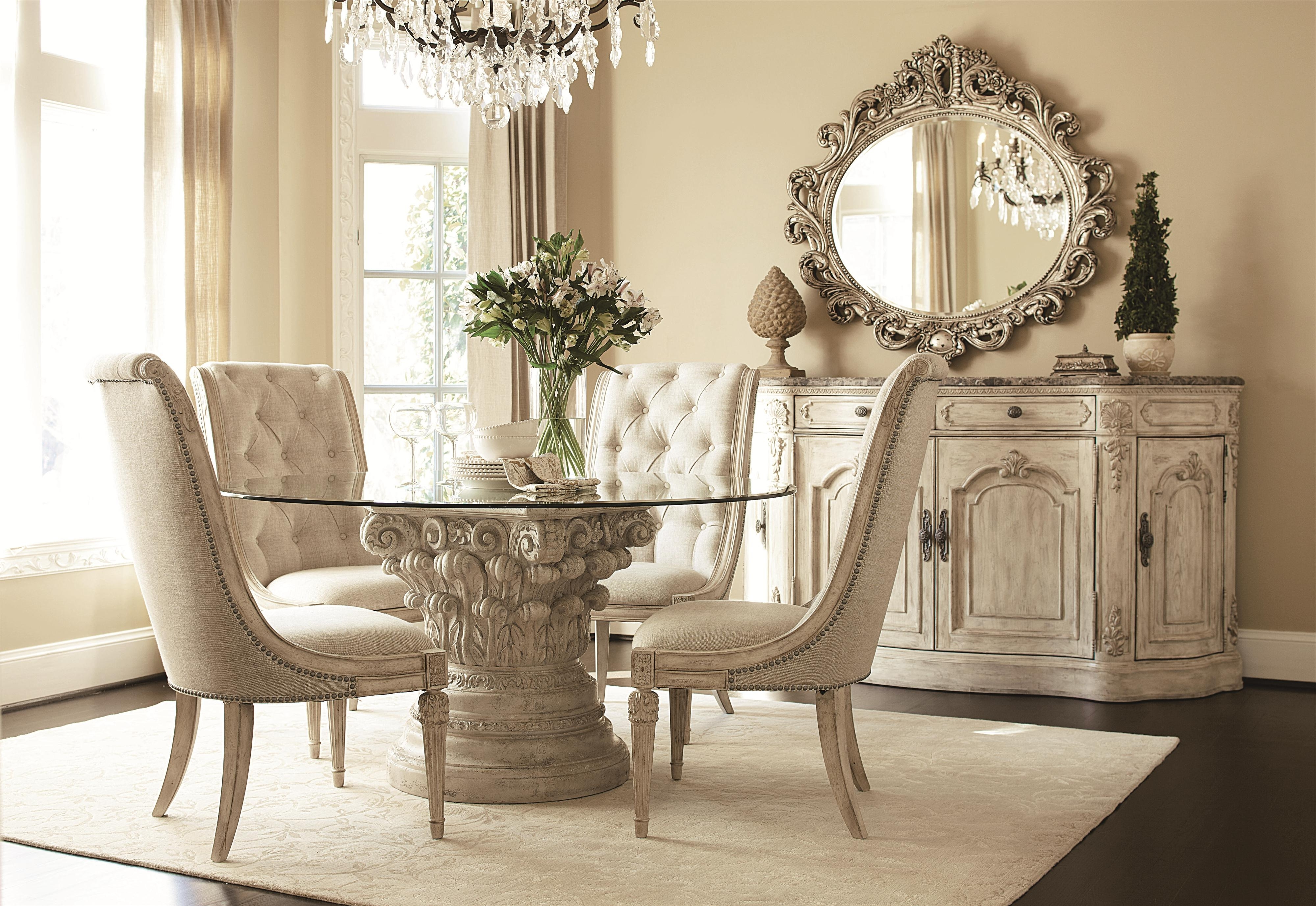 Well Known Dining Tables Sets In American Drew Jessica Mcclintock Home – The Boutique Collection  (View 21 of 25)