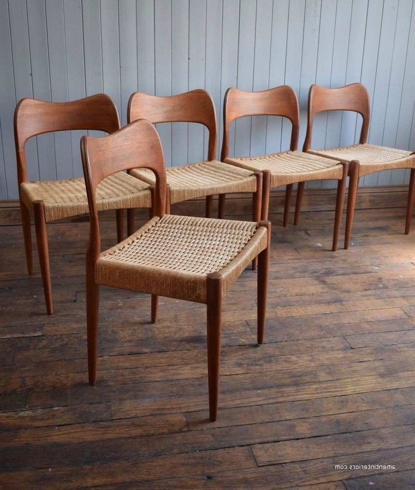 Well Known Ebay Dining Chairs Within Modern Danish Dining Chairs Ebay Inspired Erik Buck For O D Inside (View 23 of 25)