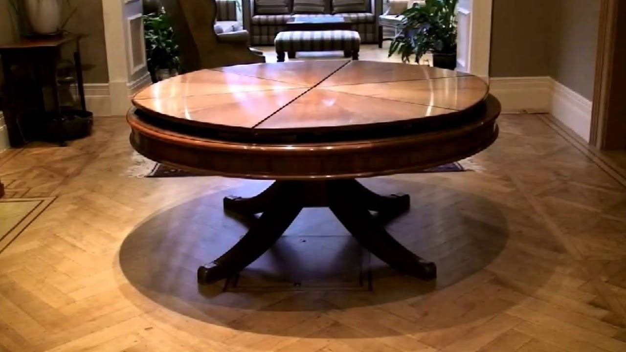 Well Known Expandable Round Dining Table Modern Design – Youtube Throughout Extendable Round Dining Tables (View 22 of 25)