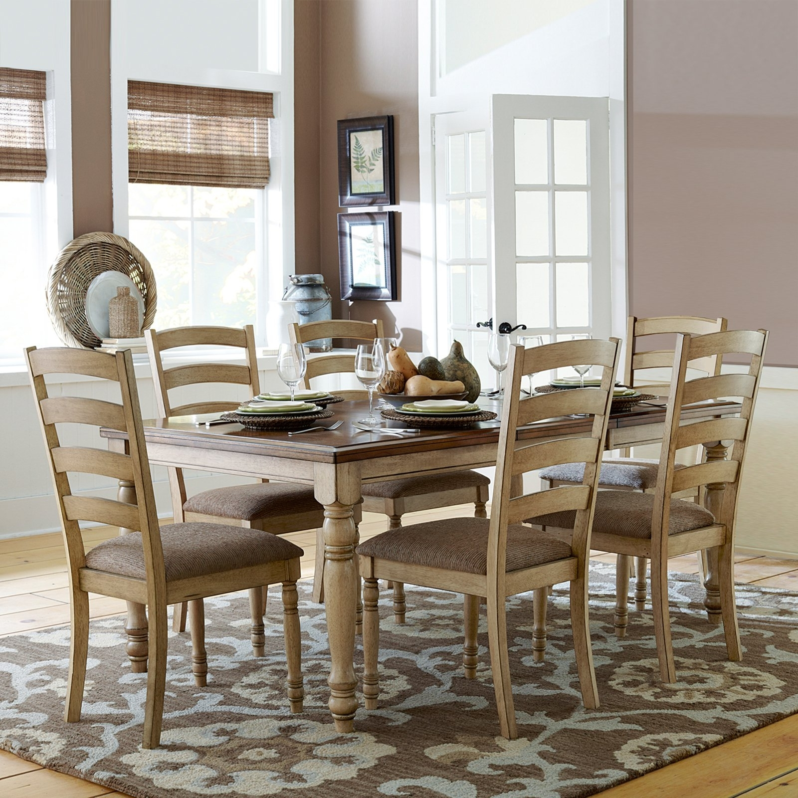 Well Known Extendable Dining Tables Sets Regarding Homelegance Nash 7 Piece Expandable Dining Table Set – Warm Oak (View 25 of 25)