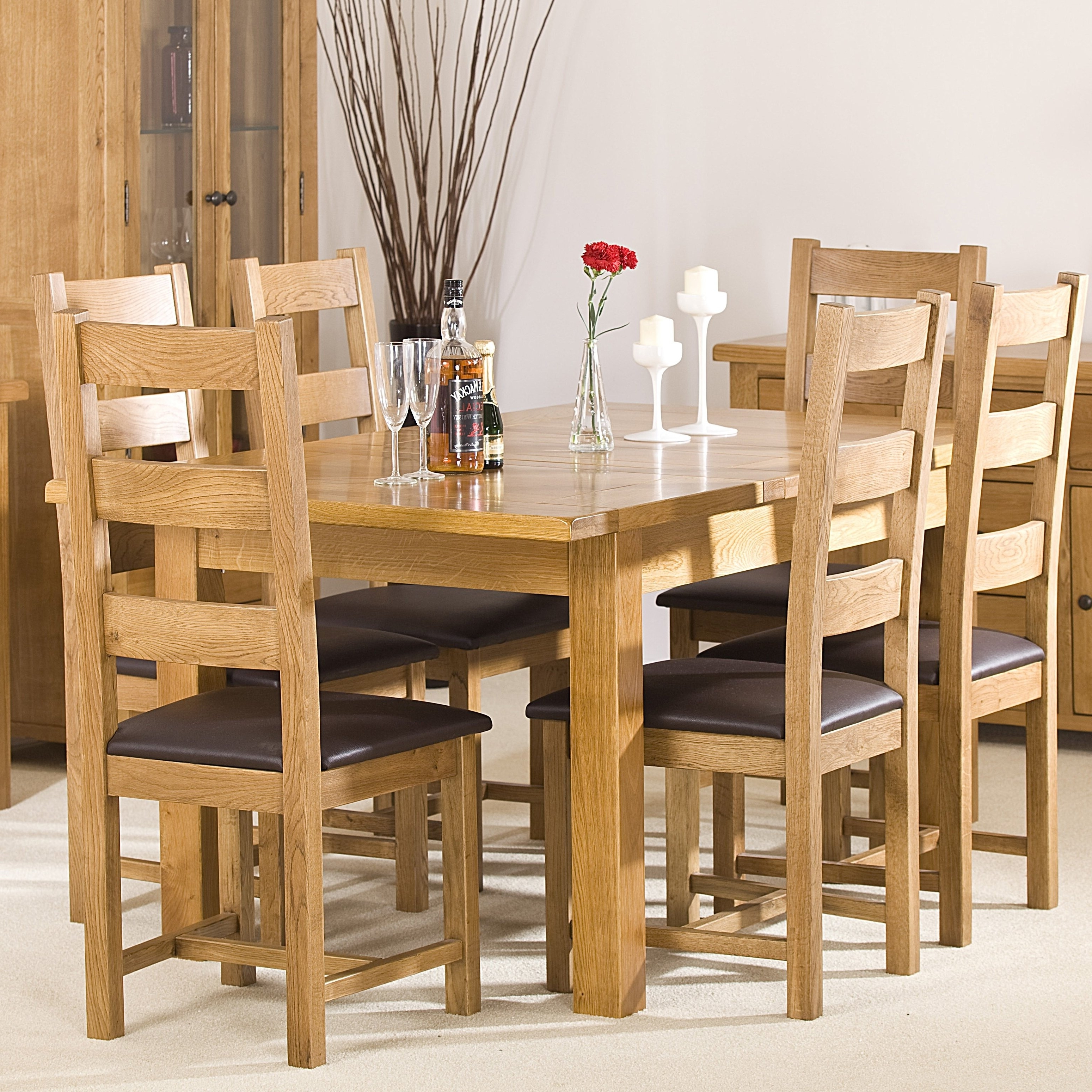 Well-known Extendable Dining Tables With 6 Chairs inside Homestead Living Extendable Dining Table And 6 Chairs