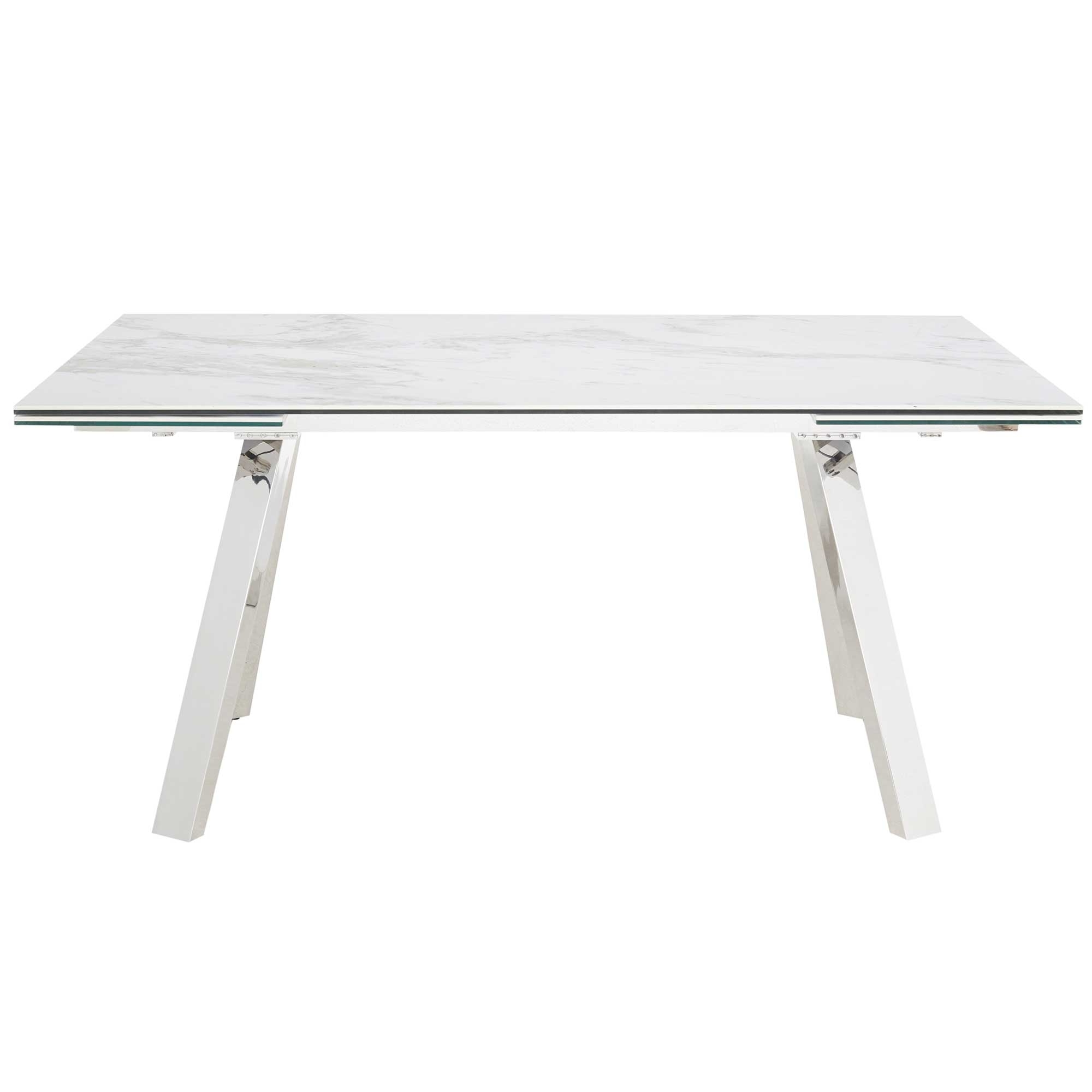 Well Known Extending Marble Dining Tables Intended For Ginostra Extending Dining Table, White Marble (View 10 of 25)