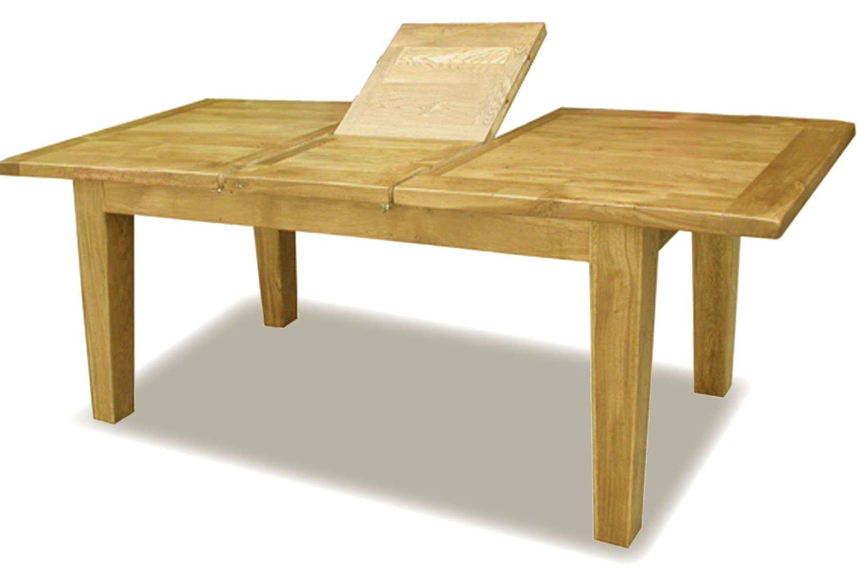 Well Known Extending Solid Oak Dining Tables Throughout Solid Oak Dining Table Extending 2540Mm Large, Oak Extending Dining (View 14 of 25)