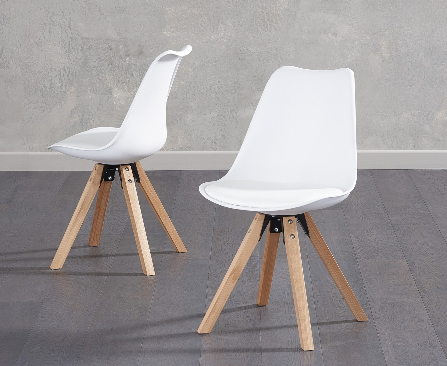 Well Known Fleet White Faux Leather Dining Chair With Square Legs (Pair) For White Leather Dining Chairs (View 17 of 25)