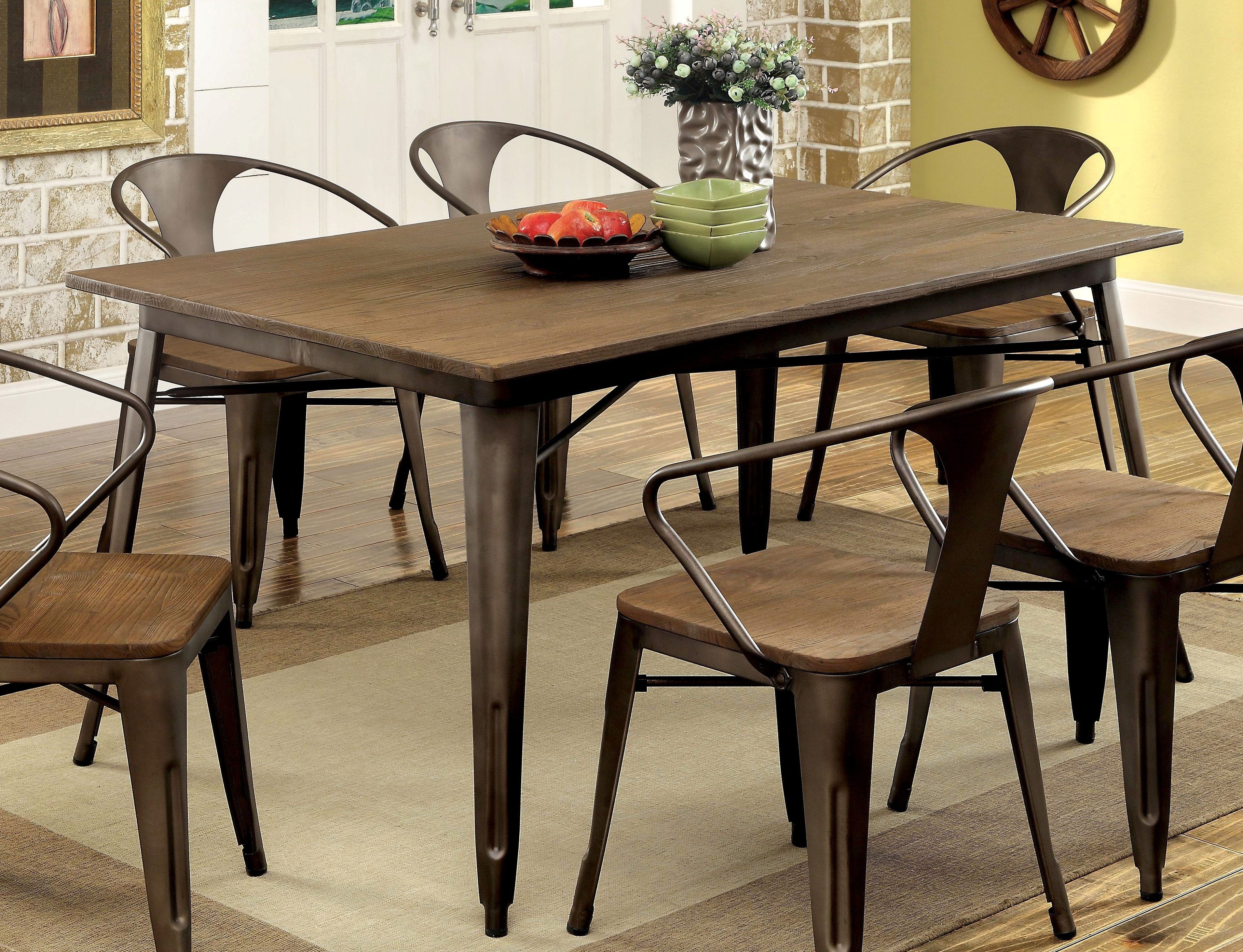 Well Known Furniture Of America Cooper I Dining Table (View 25 of 25)