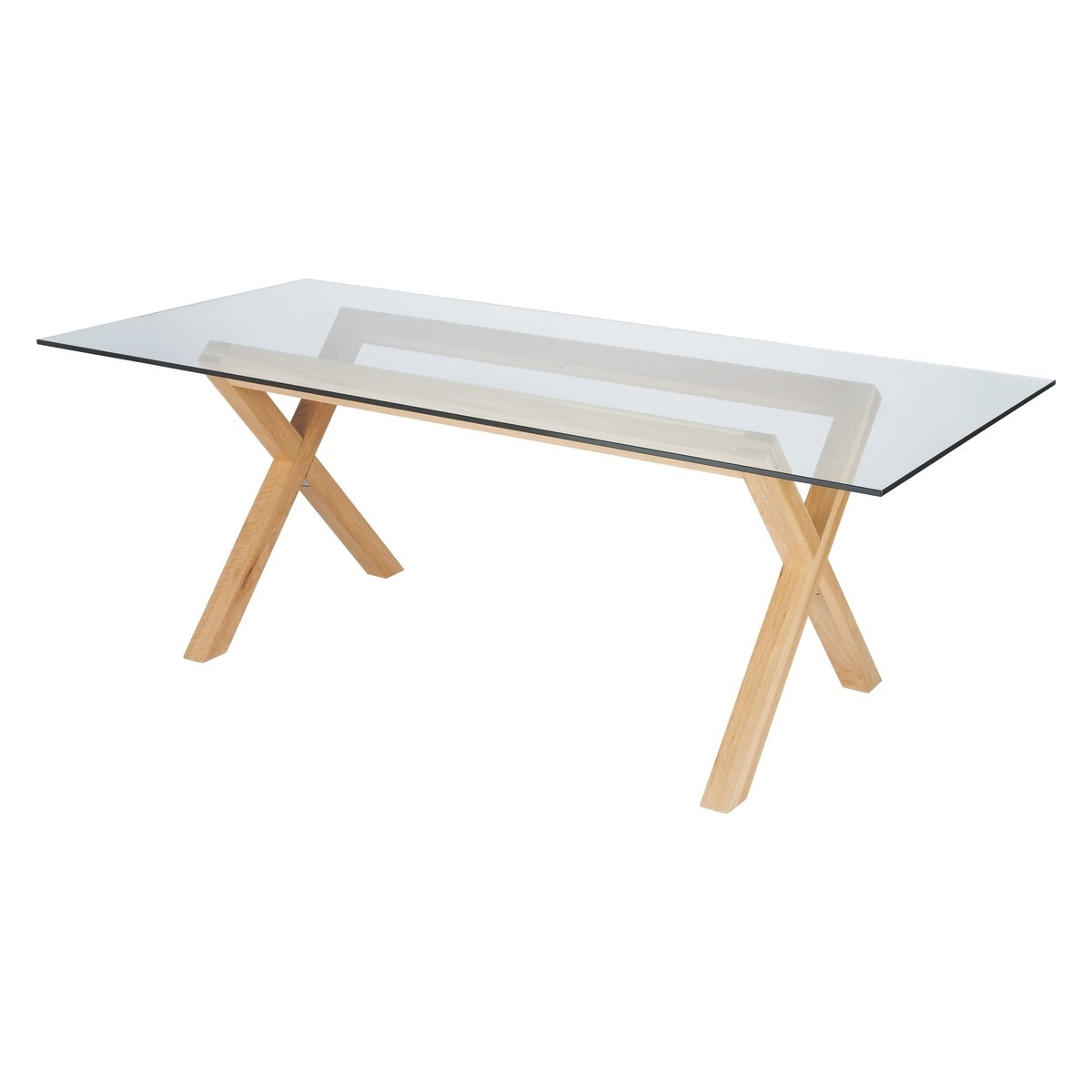 Well Known Glass Top Oak Dining Tables For Dublin 8 Seater Oak And Glass Dining Table (View 8 of 25)