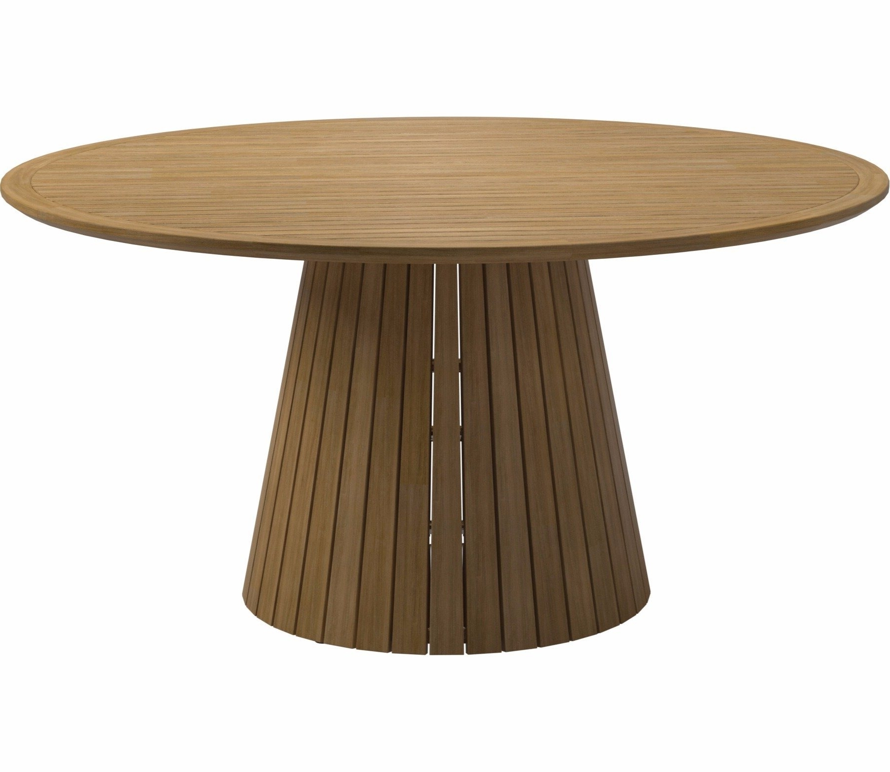 Well Known Gloster Whirl 150Cm Round Teak Dining Table – Gardensite.co (View 25 of 25)