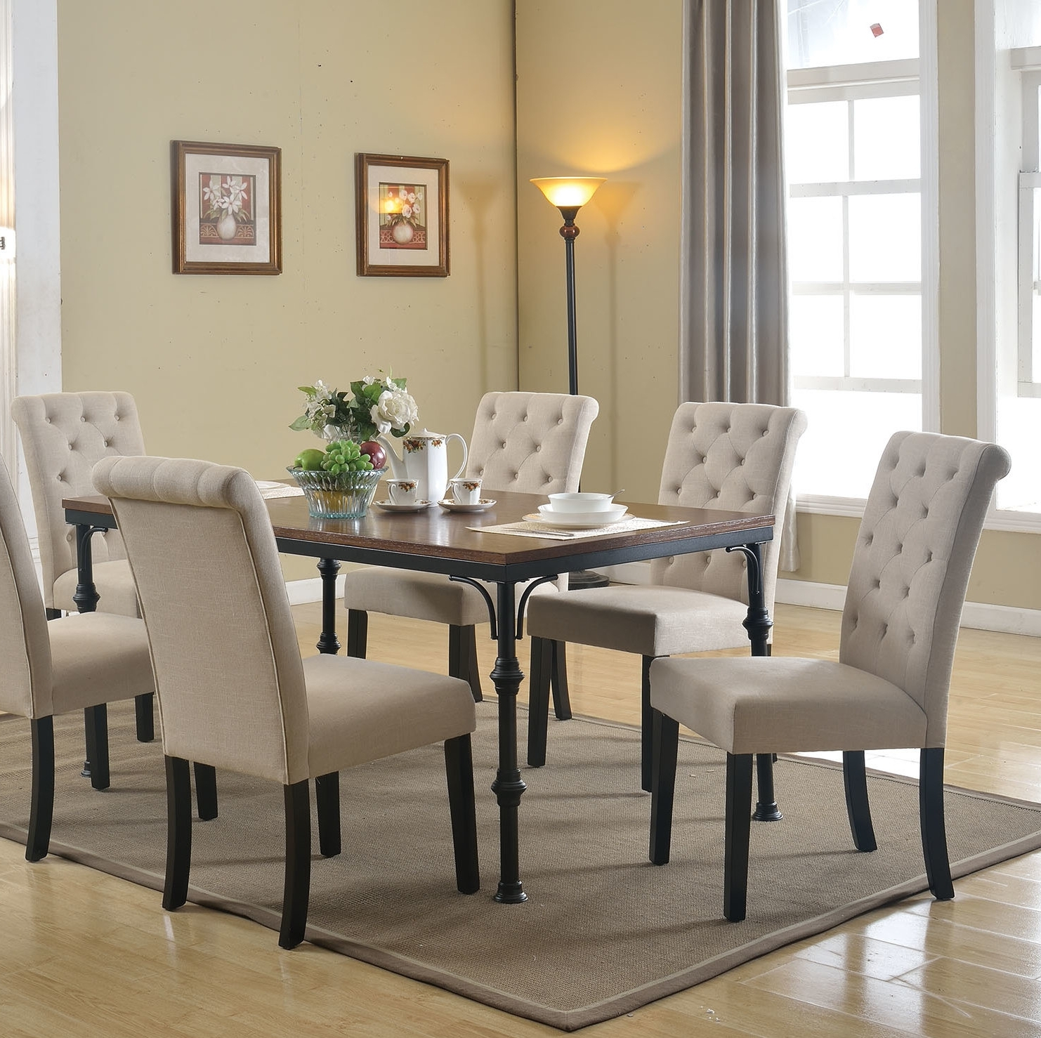 Well Known Gracie Oaks Tyerell 7 Piece Dining Set (View 16 of 25)