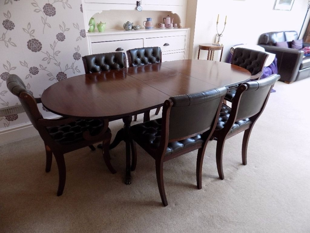 Well Known Green Dining Tables Throughout Beresford & Hicks Dining Table And 6 Leather Chairs (Green (View 22 of 25)