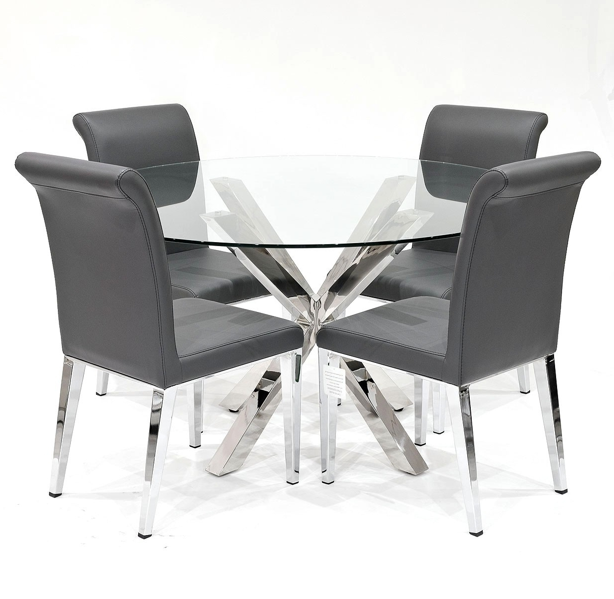 Well Known Grey Dining Chairs Pertaining To Crossly Dining Table And Grey Kirkland Dining Chair Set – Be Fabulous! (View 21 of 25)