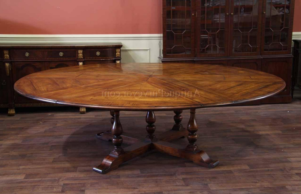 Well Known Huge Round Dining Tables Within Large Round Dining Table Seats 12 – What Are The Benefits Of Large (View 24 of 25)