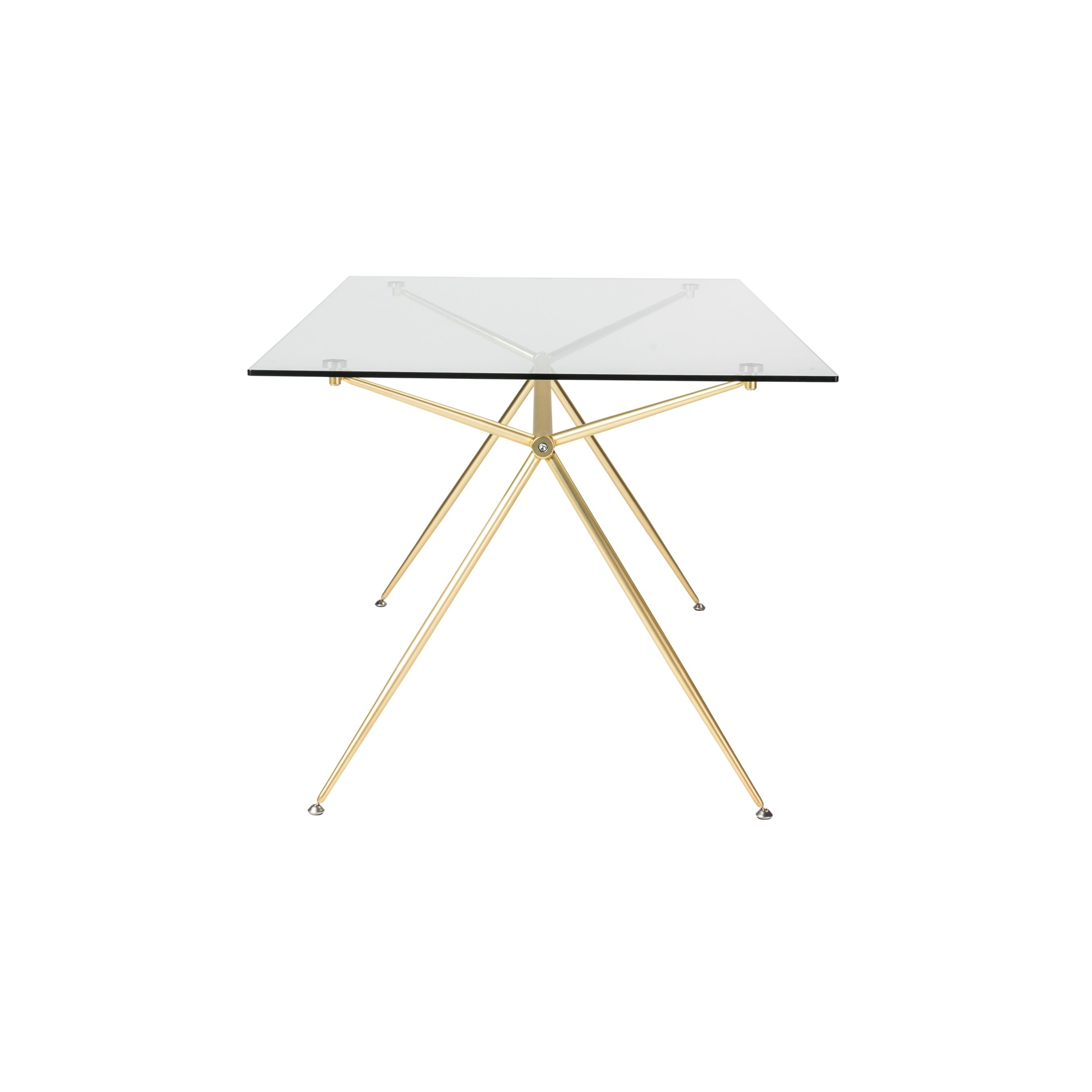 """Well Known Ina Matte Black 60 Inch Counter Tables With Frosted Glass With Regard To Shop Atos 60"""" Rectangle Dining Table/desk With Clear Tempered Glass (View 23 of 25)"""
