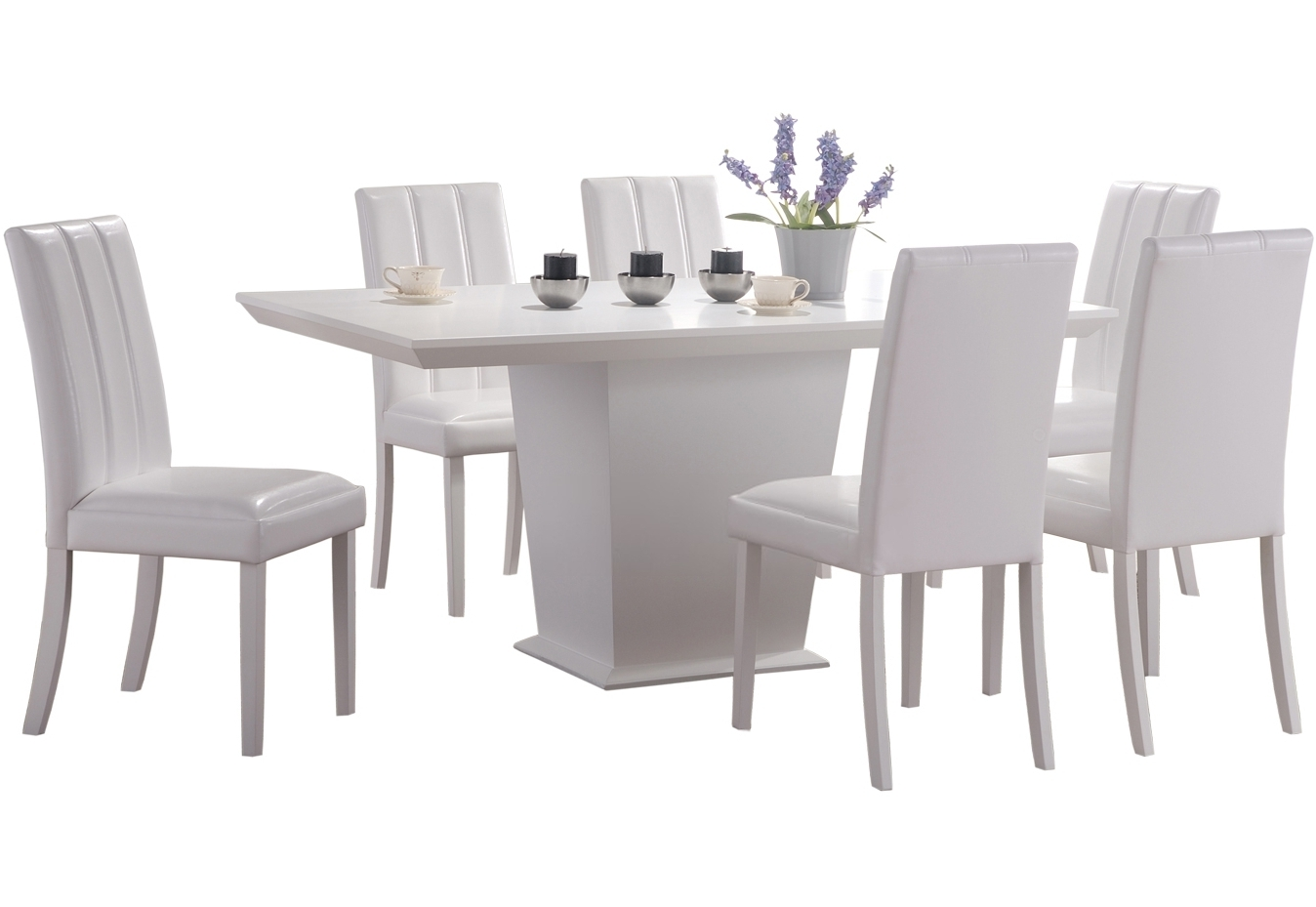 Well Known Interesting White Dining Room Tables Pictures Design Ideas Chair Intended For White Dining Tables With 6 Chairs (View 17 of 25)