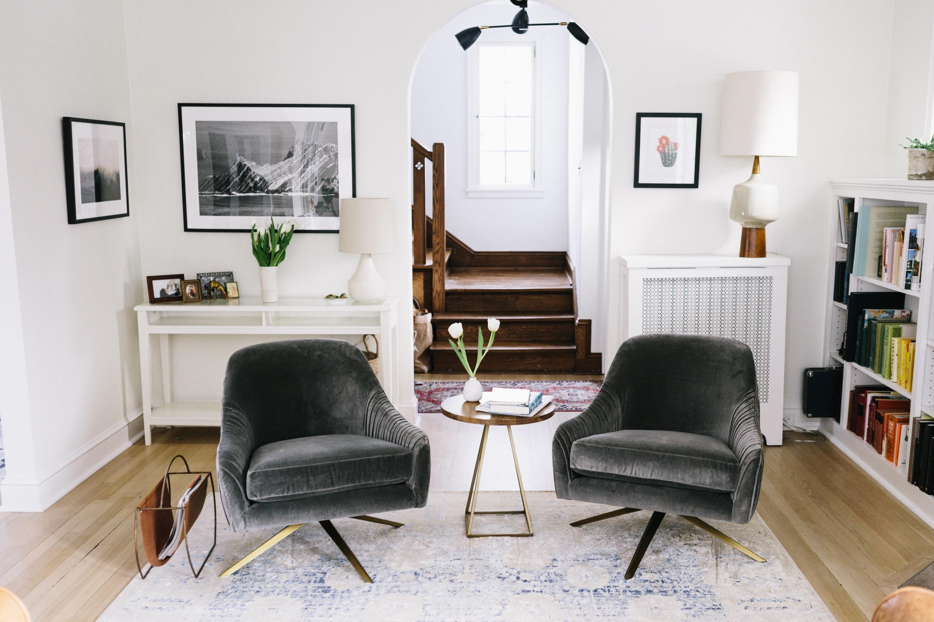 Well Known It Takes Two, Or A West Elm Roar + Rabbit Giveaway – Wit & Delight In Weaver Dark 7 Piece Dining Sets With Alexa White Side Chairs (View 22 of 25)