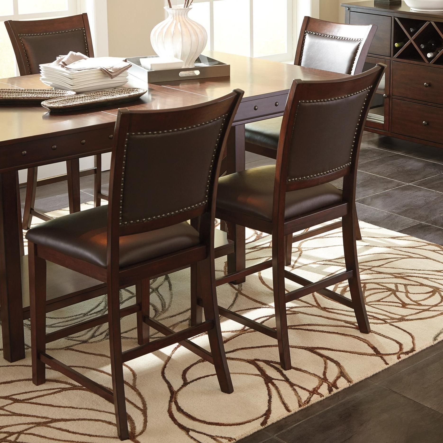 Well Known Jaxon 5 Piece Extension Counter Sets With Fabric Stools In Signature Designashley Collenburg 5 Piece Counter Table Set (View 11 of 25)