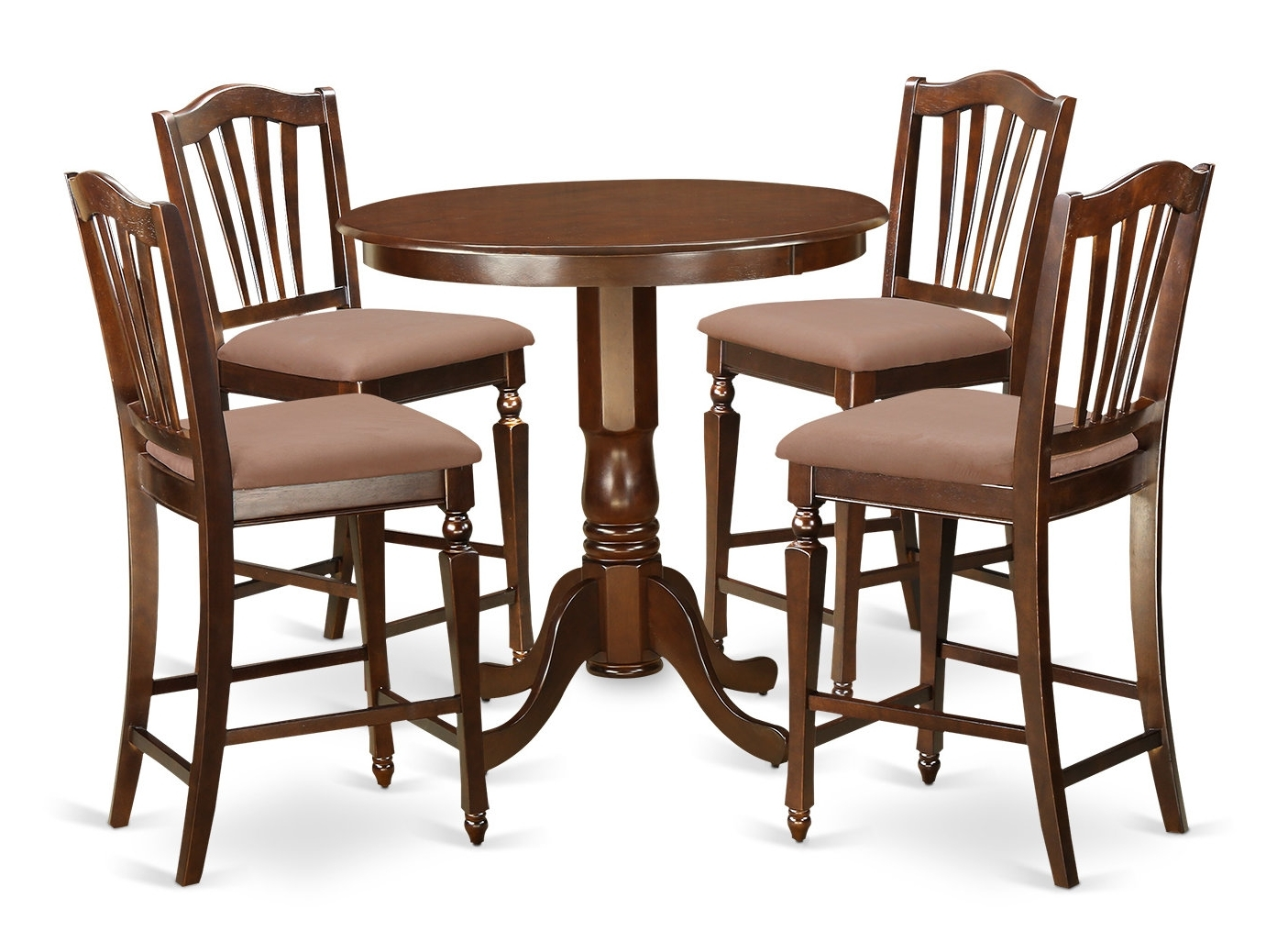 Well Known Jaxon Grey 5 Piece Round Extension Dining Sets With Upholstered Chairs With Regard To East West Jackson 5 Piece Counter Height Pub Table Set (View 24 of 25)