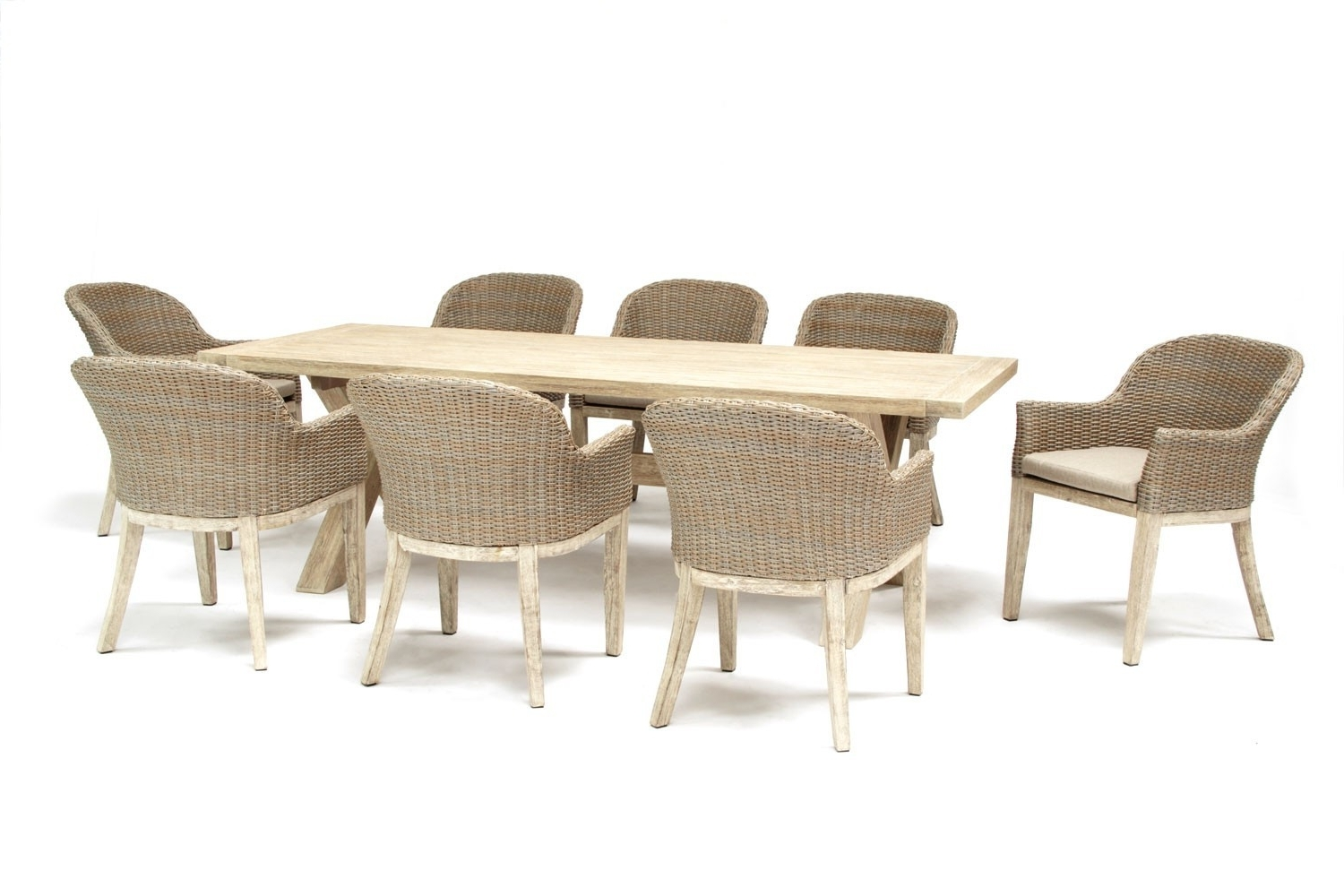 Well Known Kettler Cora 240X100Cm 8 Seat Dining Set Avec Huc23430 Cora Round Regarding Cora Dining Tables (View 14 of 25)