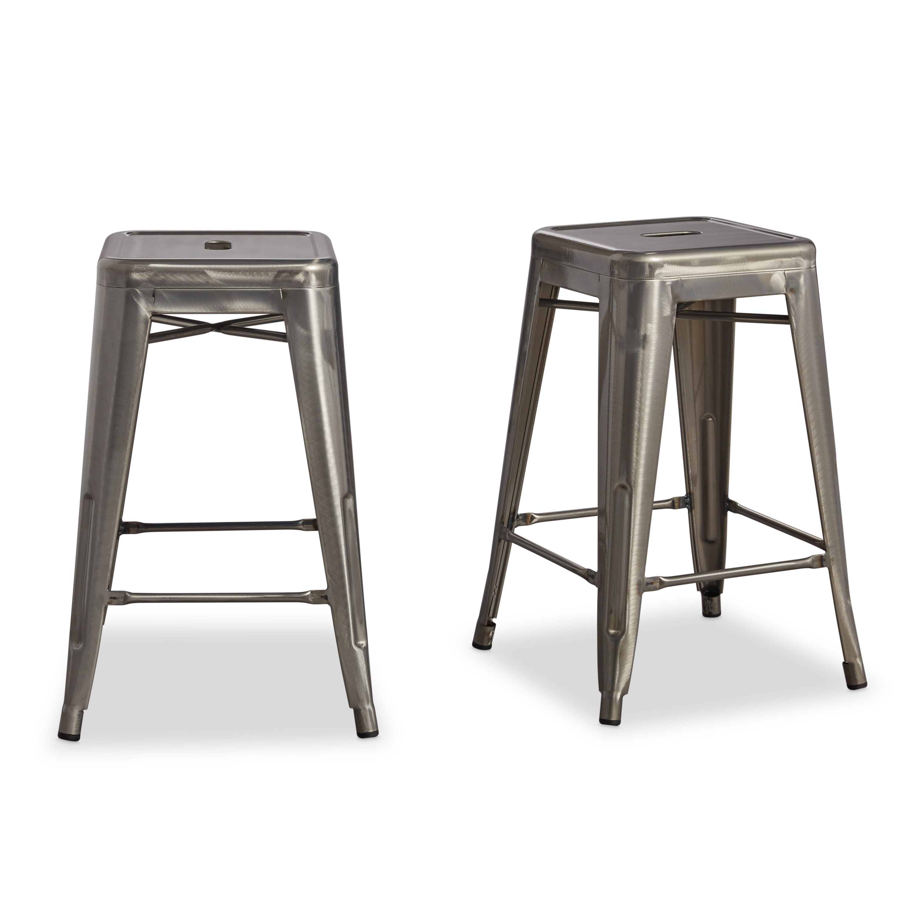 Well Known Laurent 7 Piece Counter Sets With Wood Counterstools Throughout Shop Tabouret 24 Inch Vintage Patina Backless Counter Stool (Set Of (View 21 of 25)