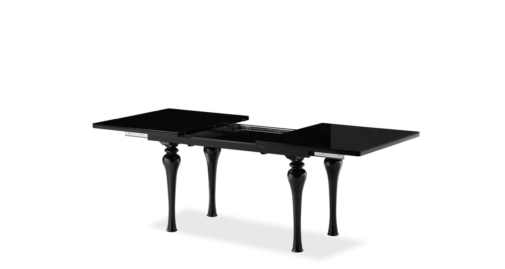 Well Known Laurent – Extending Dining Table Black Within Laurent Rectangle Dining Tables (View 8 of 25)