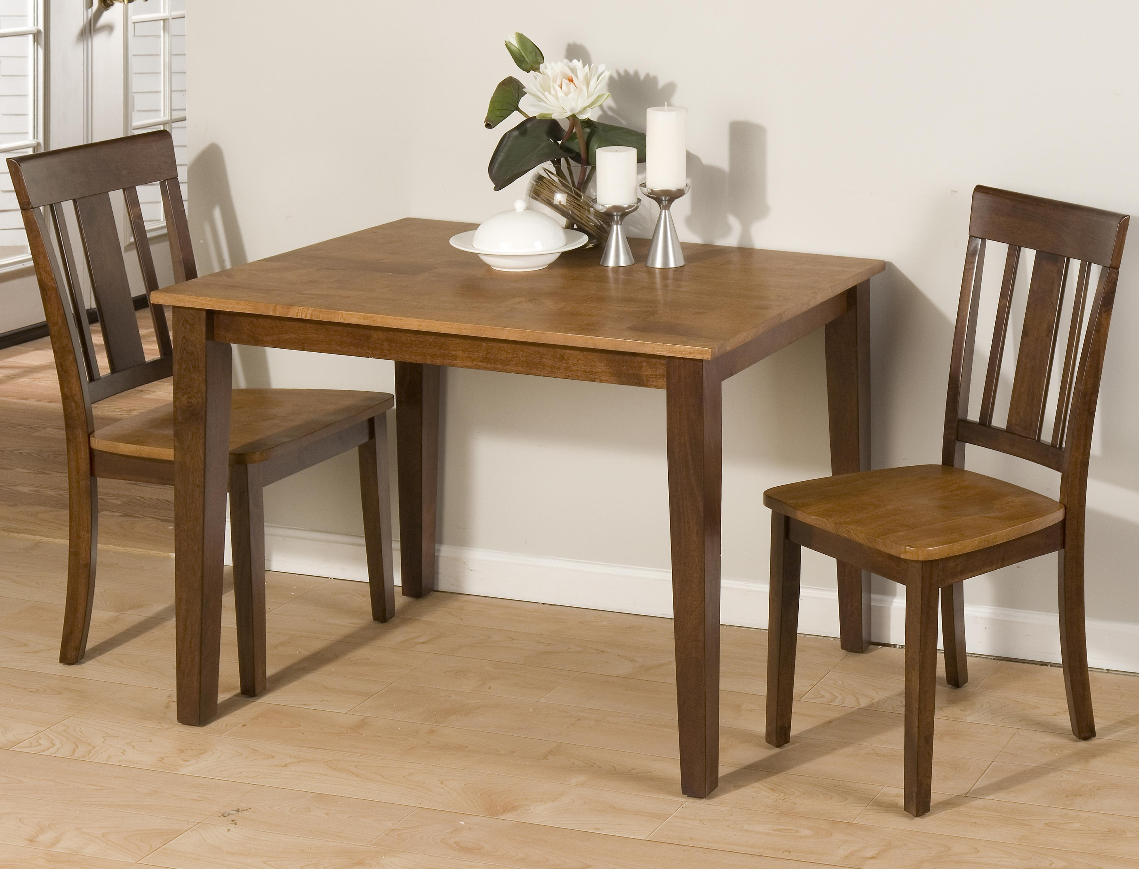 Well Known Lindy Espresso Rectangle Dining Tables Intended For Jofran Kura Espresso And Canyon Gold Two Tone Solid Rubberwood (View 20 of 25)