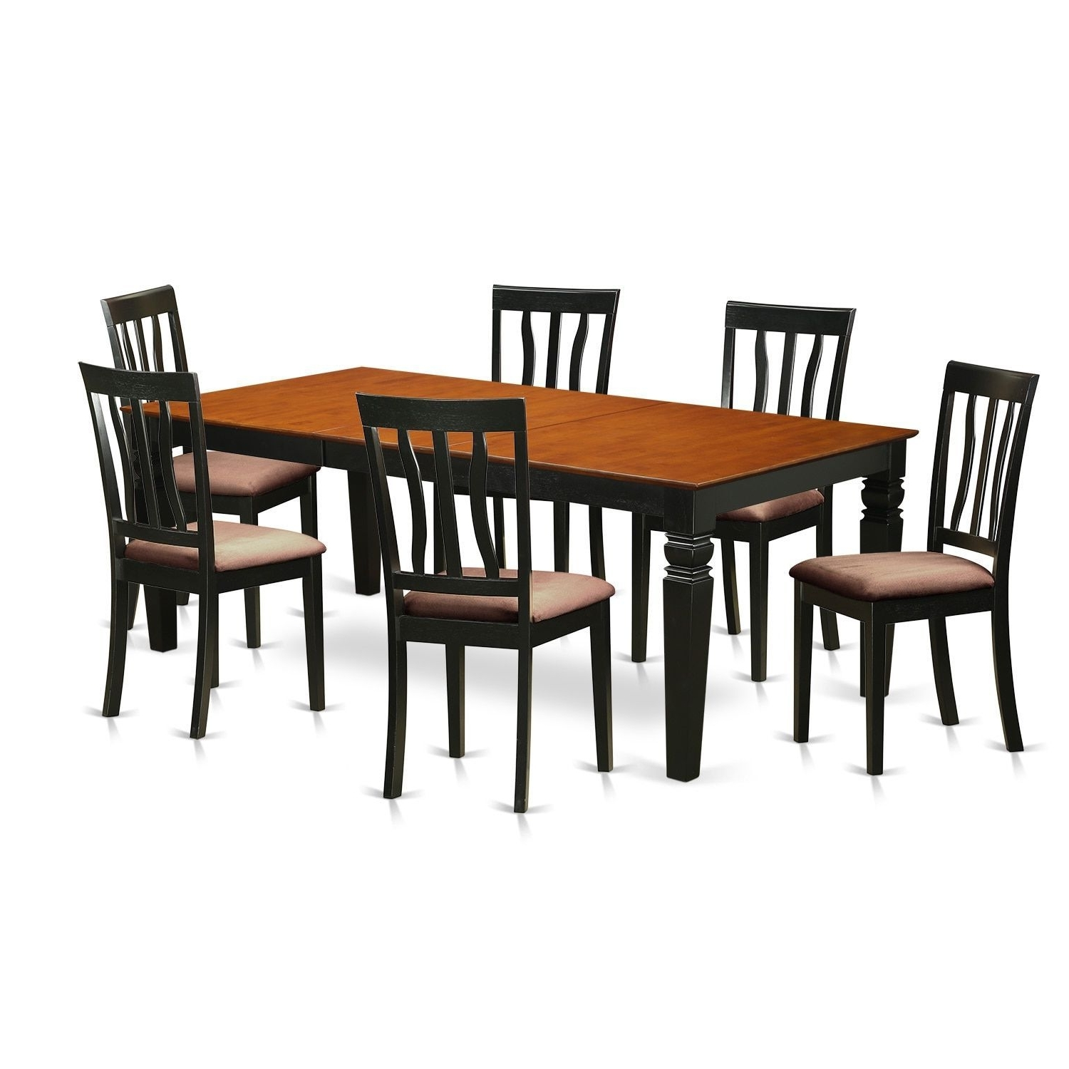 Well Known Logan 6 Piece Dining Sets For Lgan7 Bch 7 Piece Kitchen Table Set With One Logan Dining Table And (View 6 of 25)