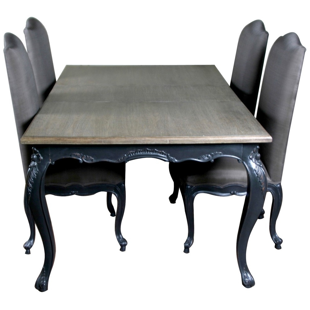 Well Known Louis French Extendable Dining Table – Crown French Furniture Intended For Extending Dining Room Tables And Chairs (View 22 of 25)