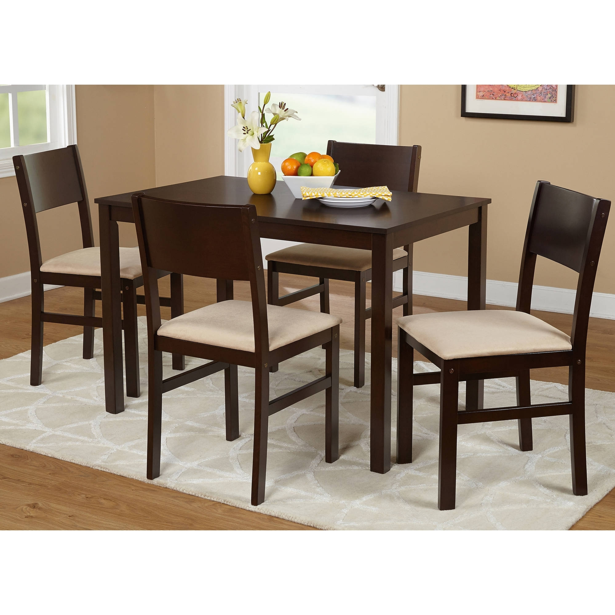Well Known Lucca 5 Piece Dining Set, Multiple Colors – Walmart Regarding Dining Sets (View 22 of 25)