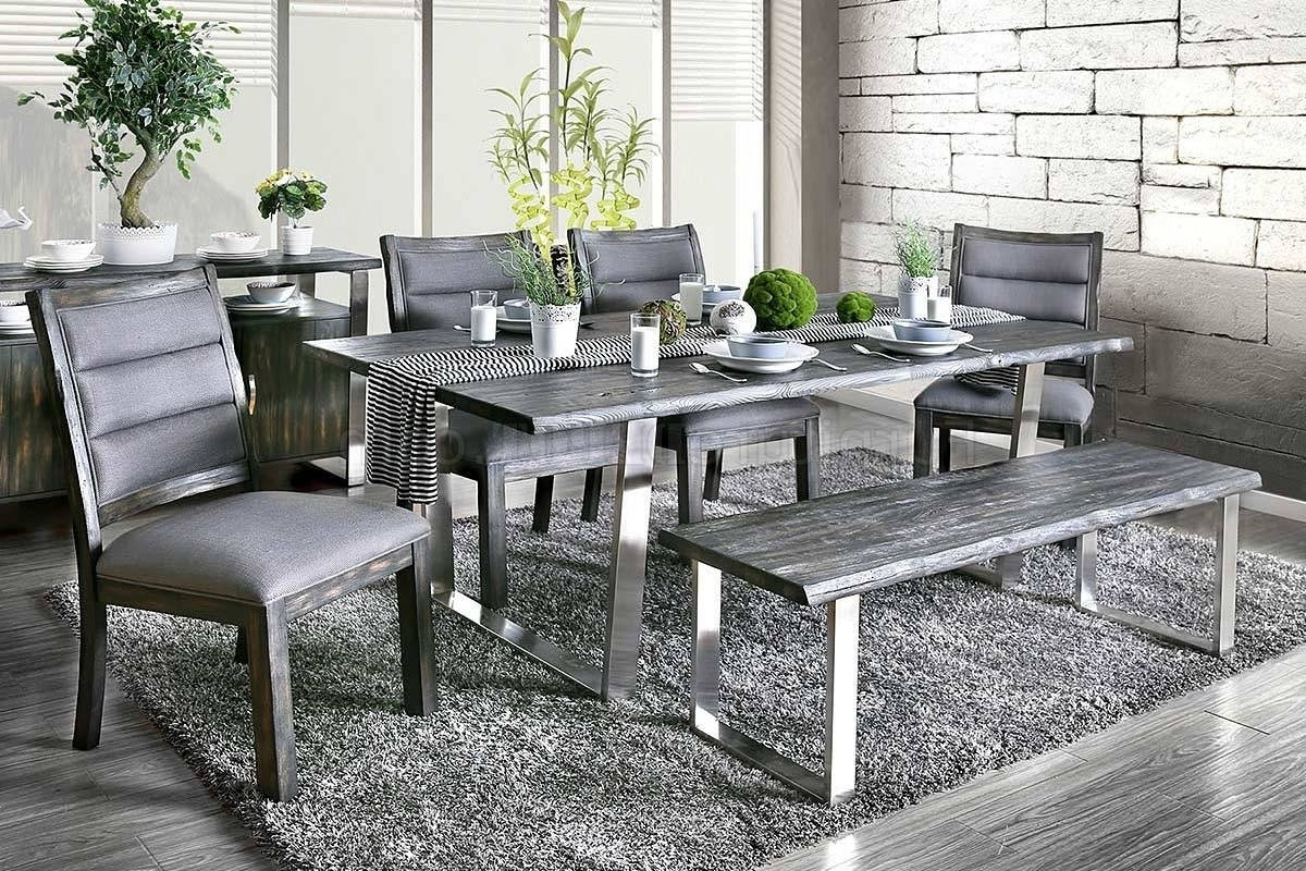Well Known Mandy Industrial Style Dining Table Cm3451Gy T In Gray W/options For Industrial Style Dining Tables (View 24 of 25)