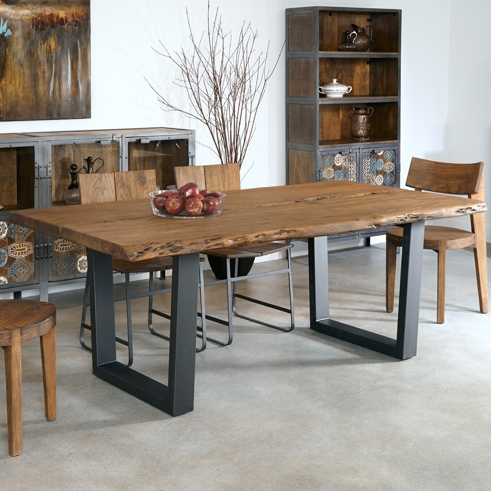 Well Known Mango Wood/iron Dining Tables Pertaining To Sequoia Wood & Iron Dining Chair In Light Brown (View 23 of 25)