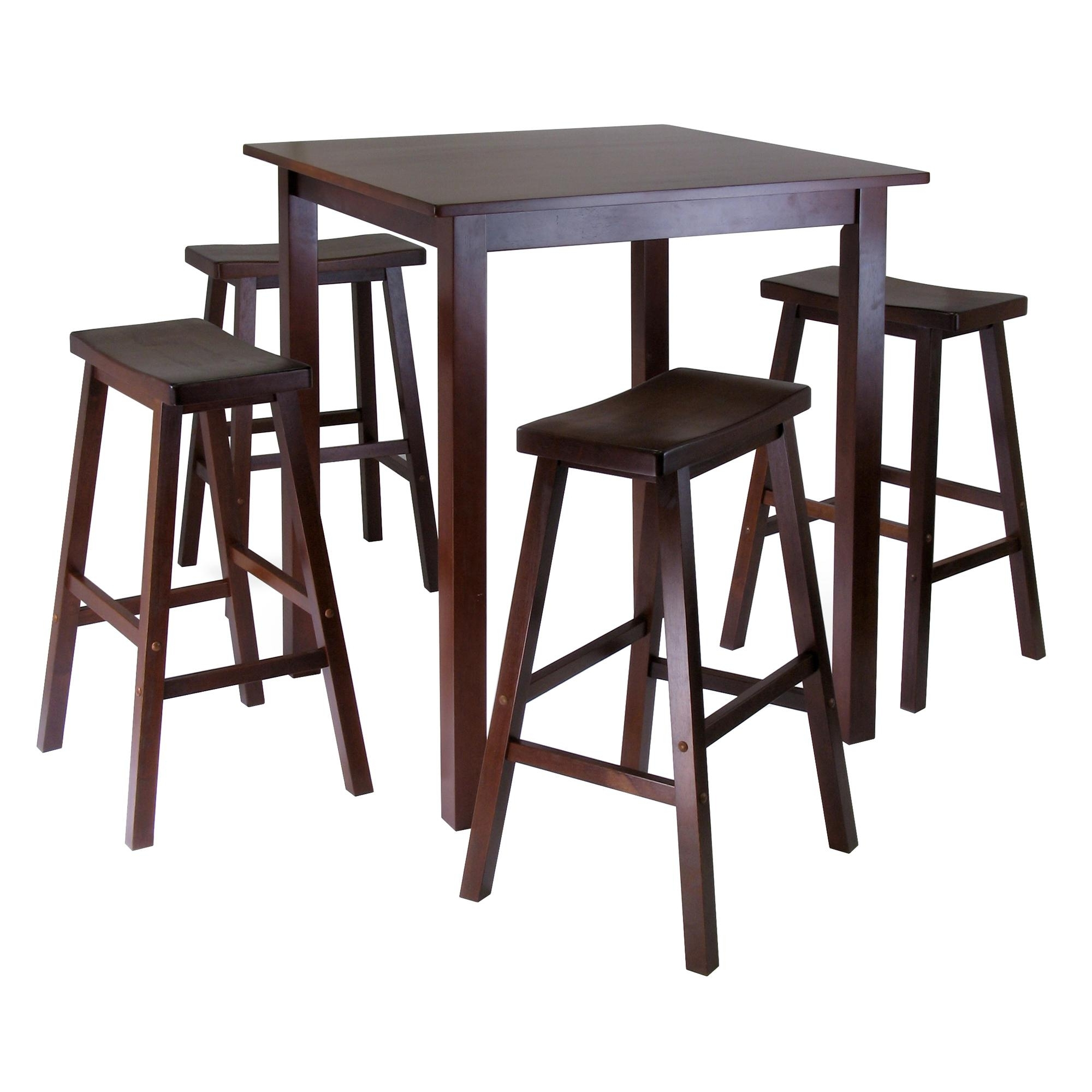 Well Known Market 5 Piece Counter Sets In Amazon: Winsome's Parkland 5 Piece Square High/pub Table Set In (View 24 of 25)