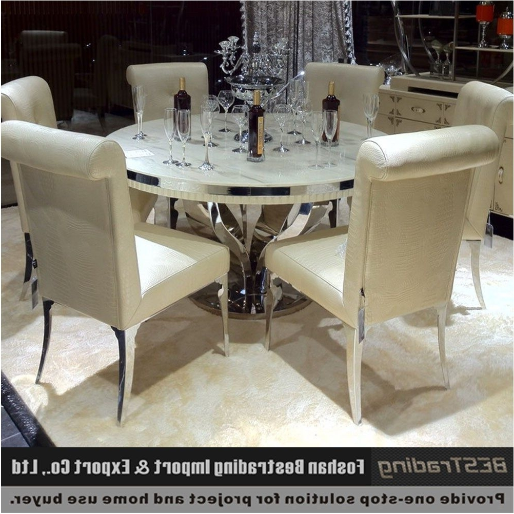 Well Known Marvelous Modern Round Nature White Marble Dining Table Buy Marble With Regard To Harvey Dining Tables (View 19 of 25)