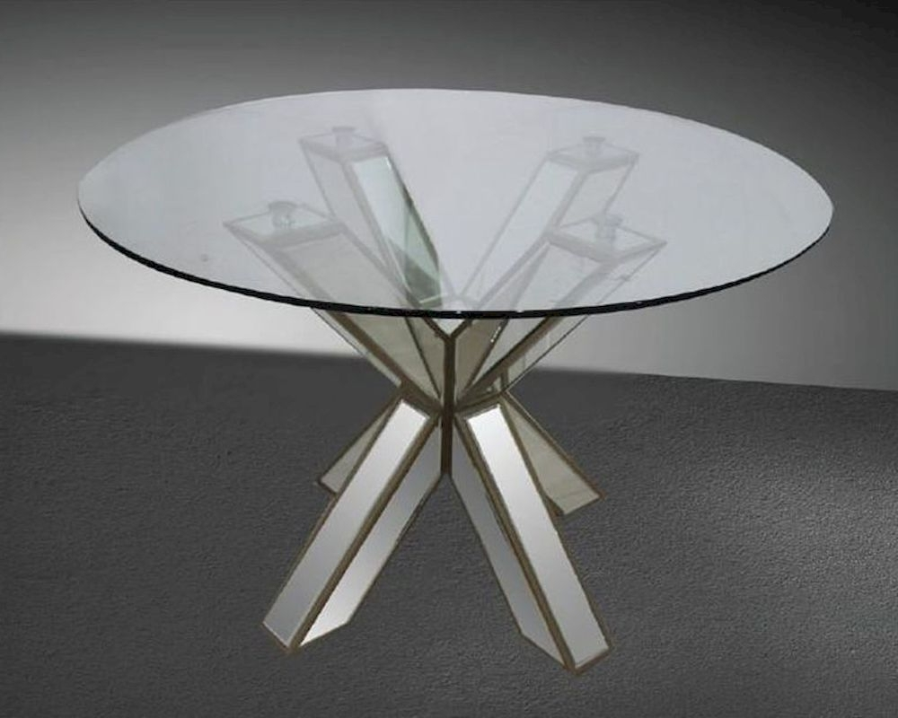 Well Known Mirrored Dining Room Table Intended For Mirror Glass Dining Tables (View 23 of 25)