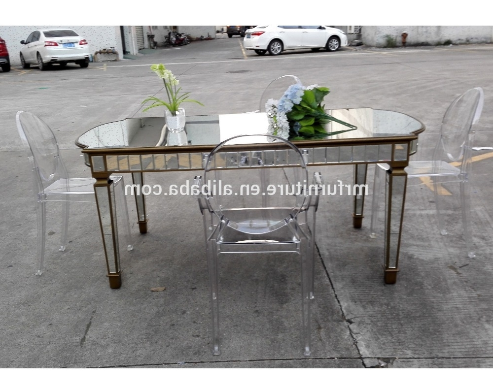 Well Known Mirrored Dining Tables For Mirrored Rectangle Long Dining Table For Event Rent Wedding (View 22 of 25)