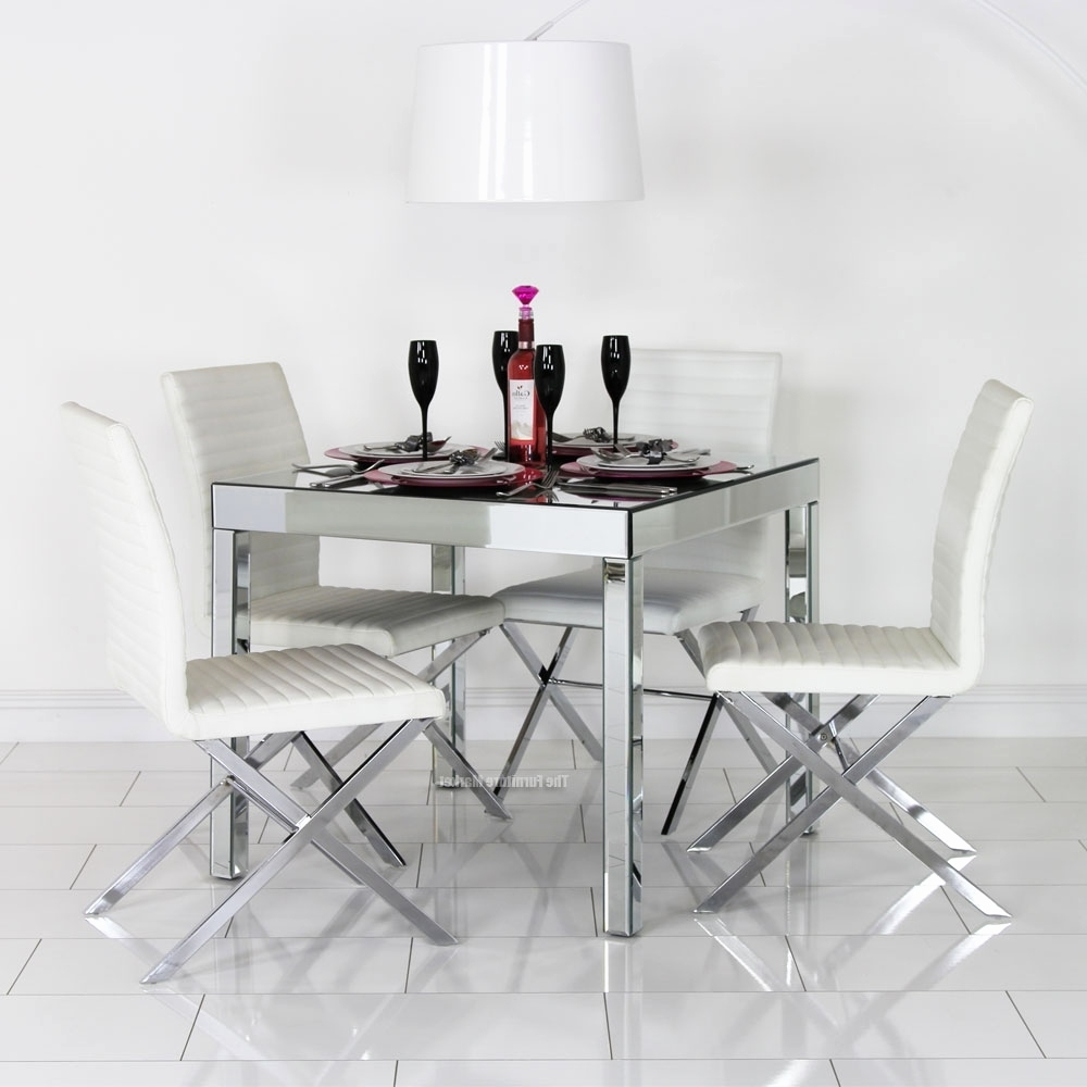 Well Known Mirrored Dining Tables Intended For Mirrored Dining Room Furniture Awesome Mirrored Dining Outdoor (View 23 of 25)