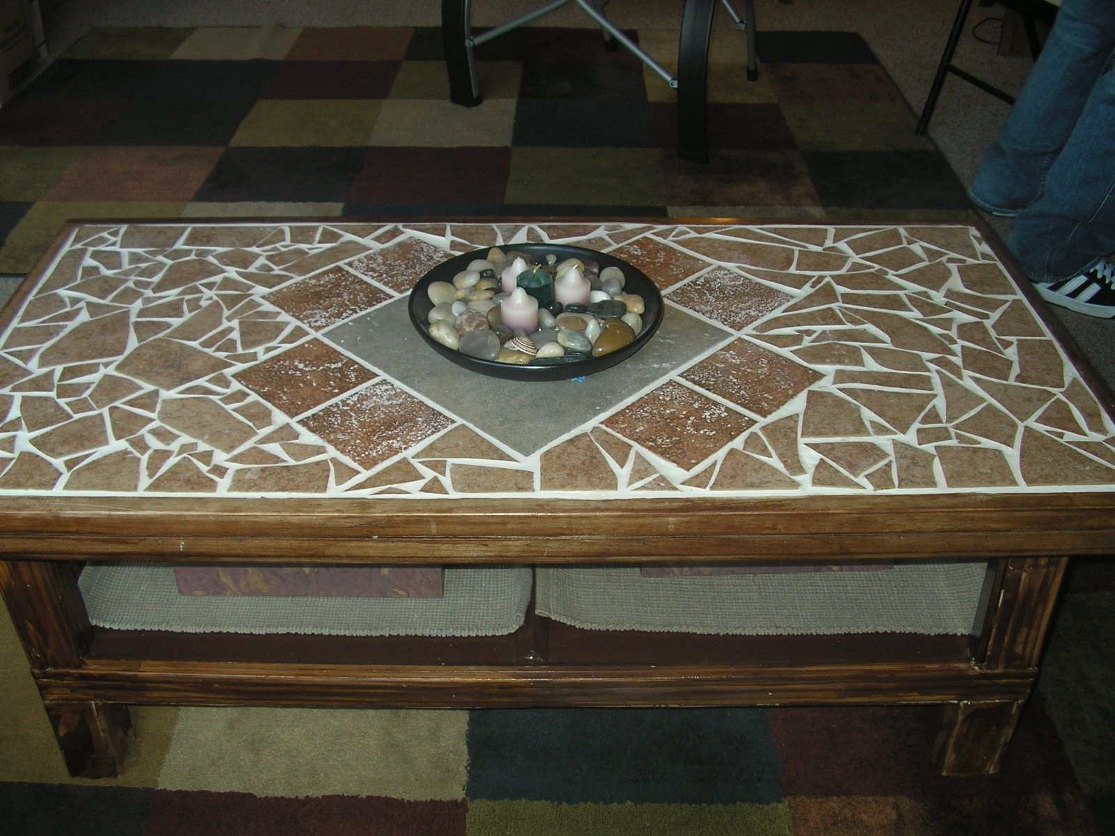 Well Known Mosaic Dining Tables For Sale Regarding For My $3 Garage Sale Find :) Redoing My Coffee Table Top With Tile (View 24 of 25)