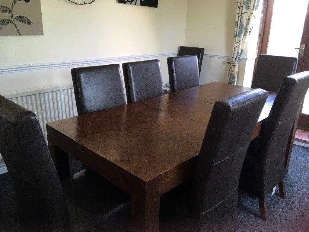 Well Known Next Extendable Dining Table And Chaires Comes Complete With 8 High With Regard To 8 Dining Tables (View 14 of 25)