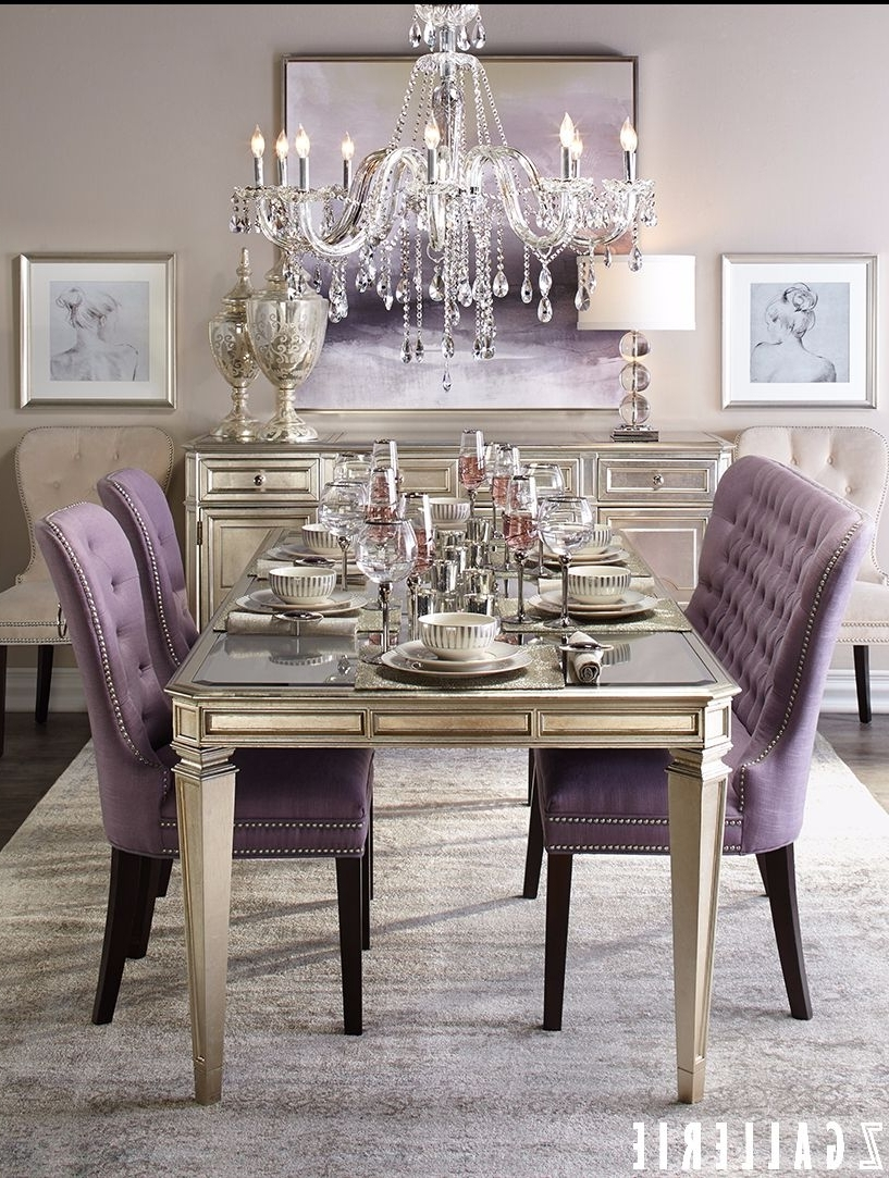 Well Known Not Particularly Fond Of Having A Bench Seat In An Elegant Dining With Dining Tables And Purple Chairs (View 21 of 25)