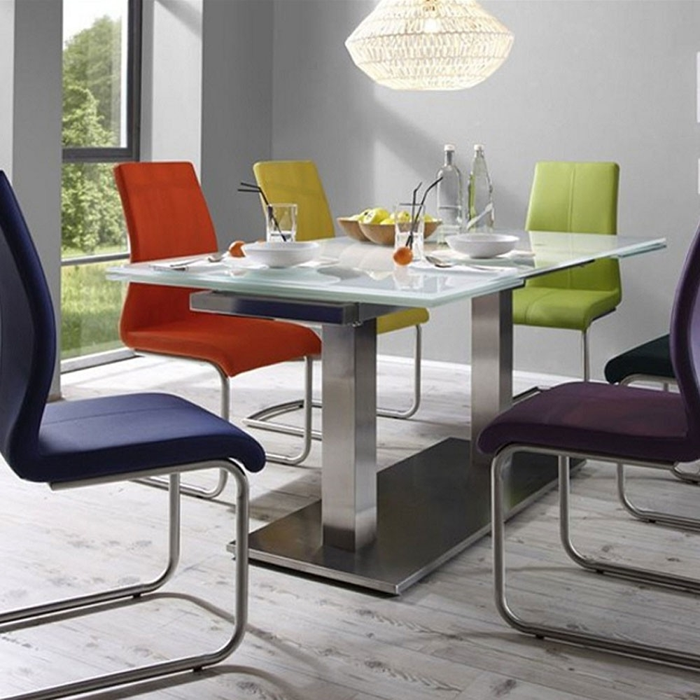 Well Known Nova Extending 120Cm Pedestal Dining Table With Glass Extending Dining Tables (View 24 of 25)