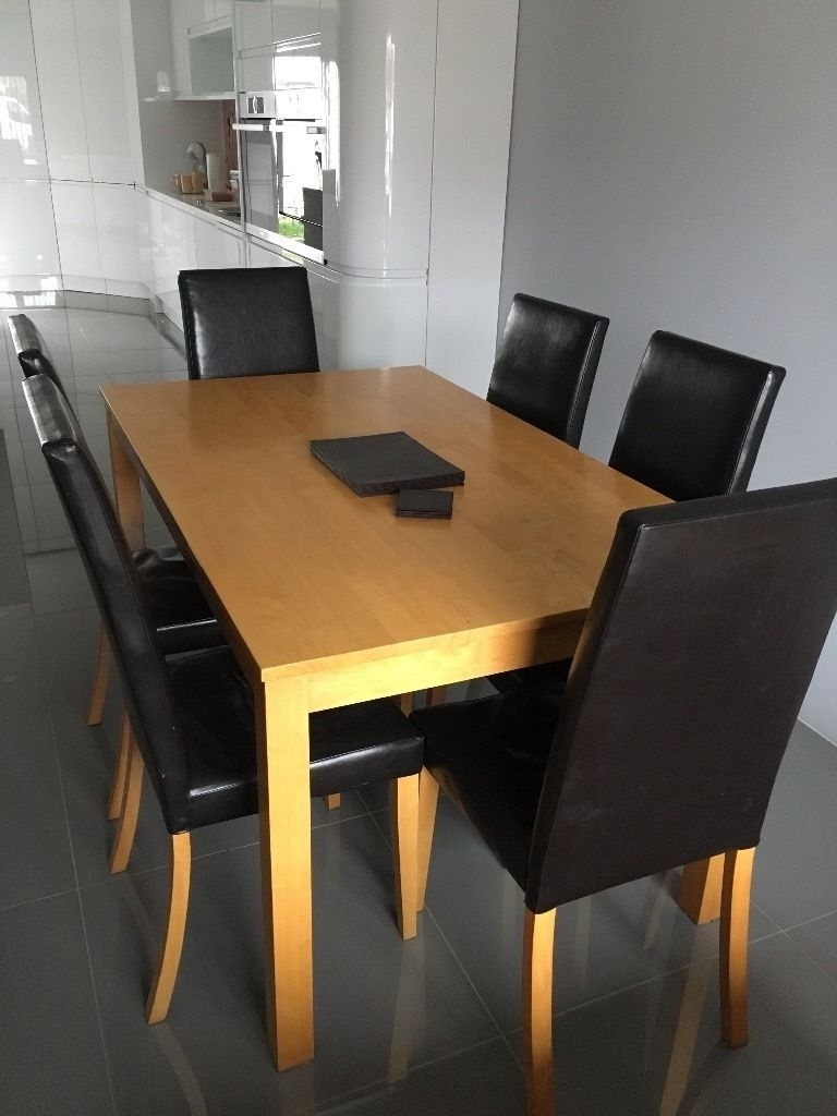Well Known Oak Coloured Dining Table & 6 Chairs Free Placemats, Coffee Table Inside Colourful Dining Tables And Chairs (View 23 of 25)