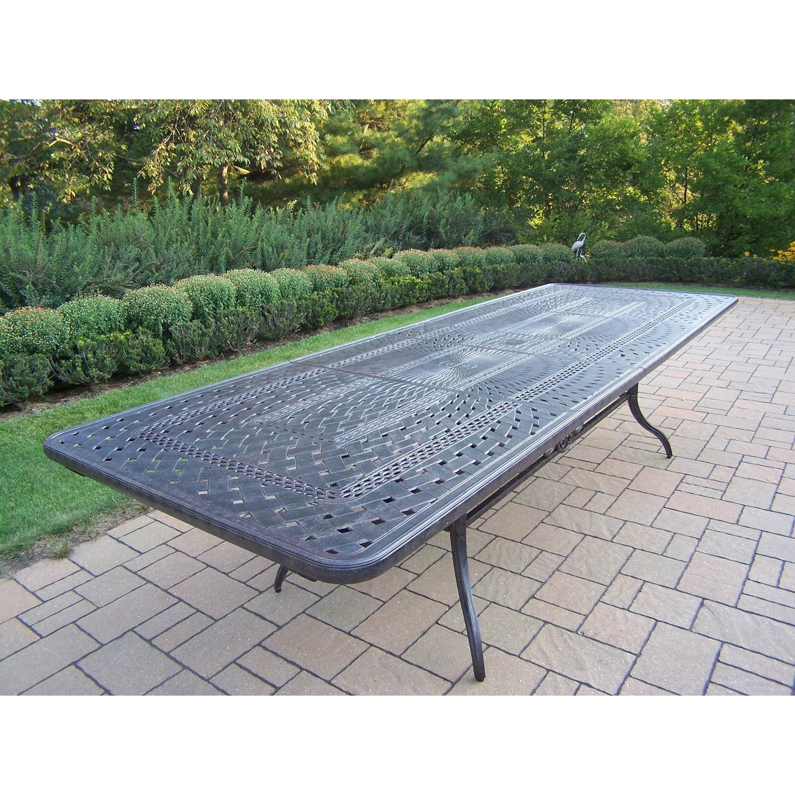 Well Known Oakland Living Belmont Rectangular Extendable Patio Dining Table Within Outdoor Extendable Dining Tables (View 22 of 25)