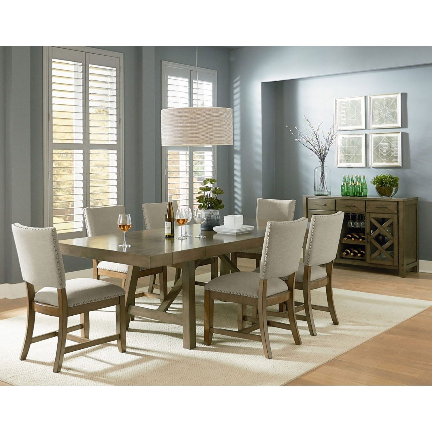 Well Known Omaha 7 Piece Dining Set 16681 7Pc (View 23 of 25)