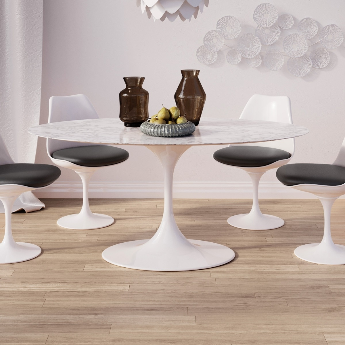 Well Known Oval Dining Tables For Sale Throughout Saarinen Tulip Oval Marble Dining Table (View 25 of 25)