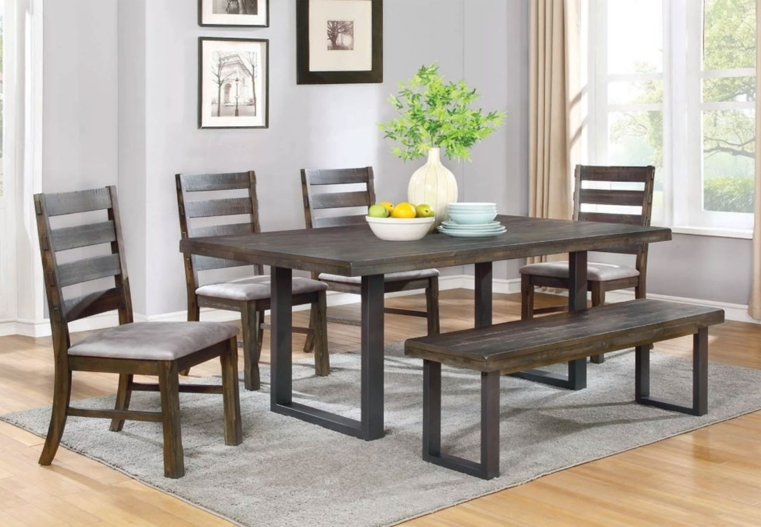 Well Known Parkwood Urban Rustic Dining Table Set For Rustic Dining Tables (View 21 of 25)