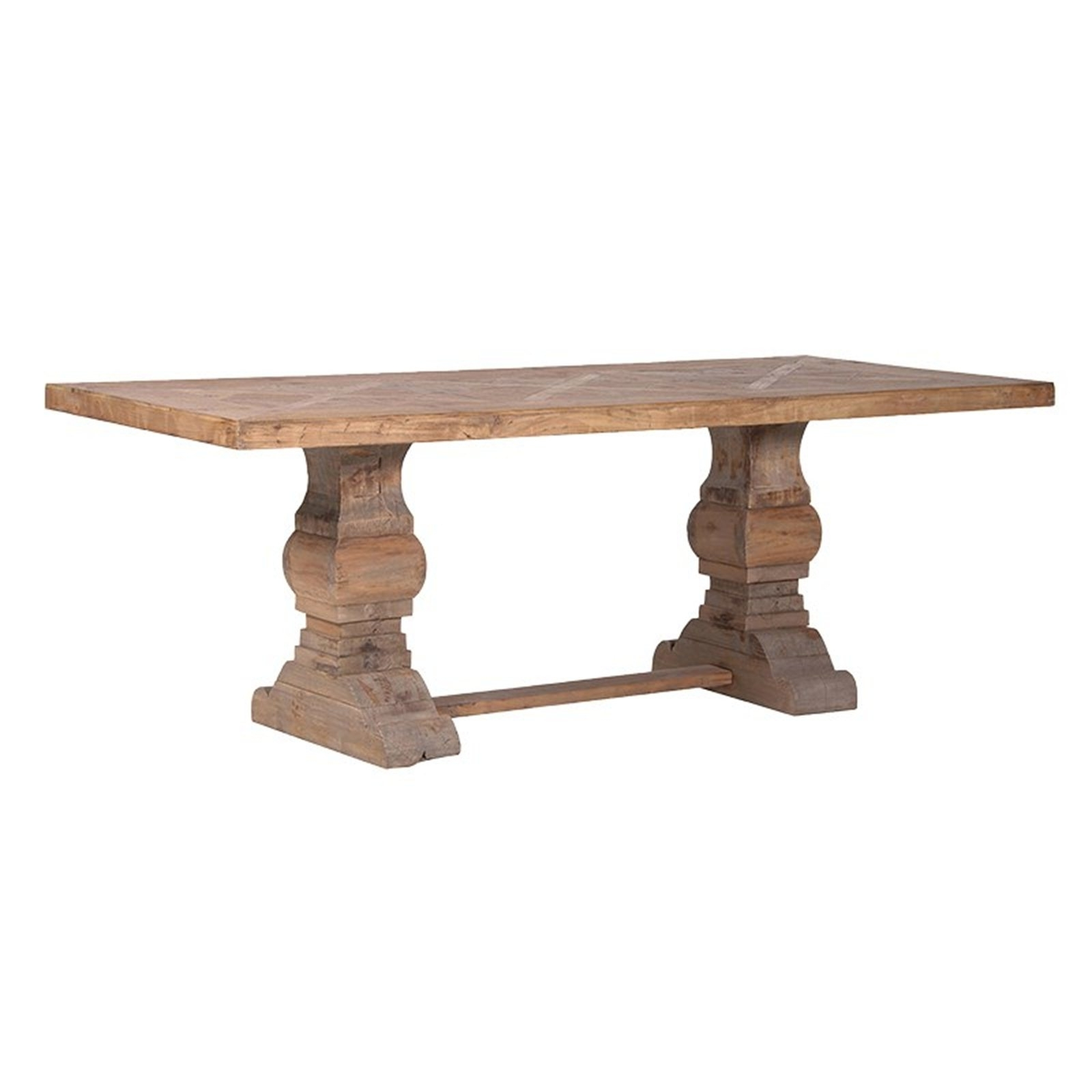 Well Known Parquet Dining Tables Pertaining To Reclaimed Parquet Pine Dining Table (View 25 of 25)