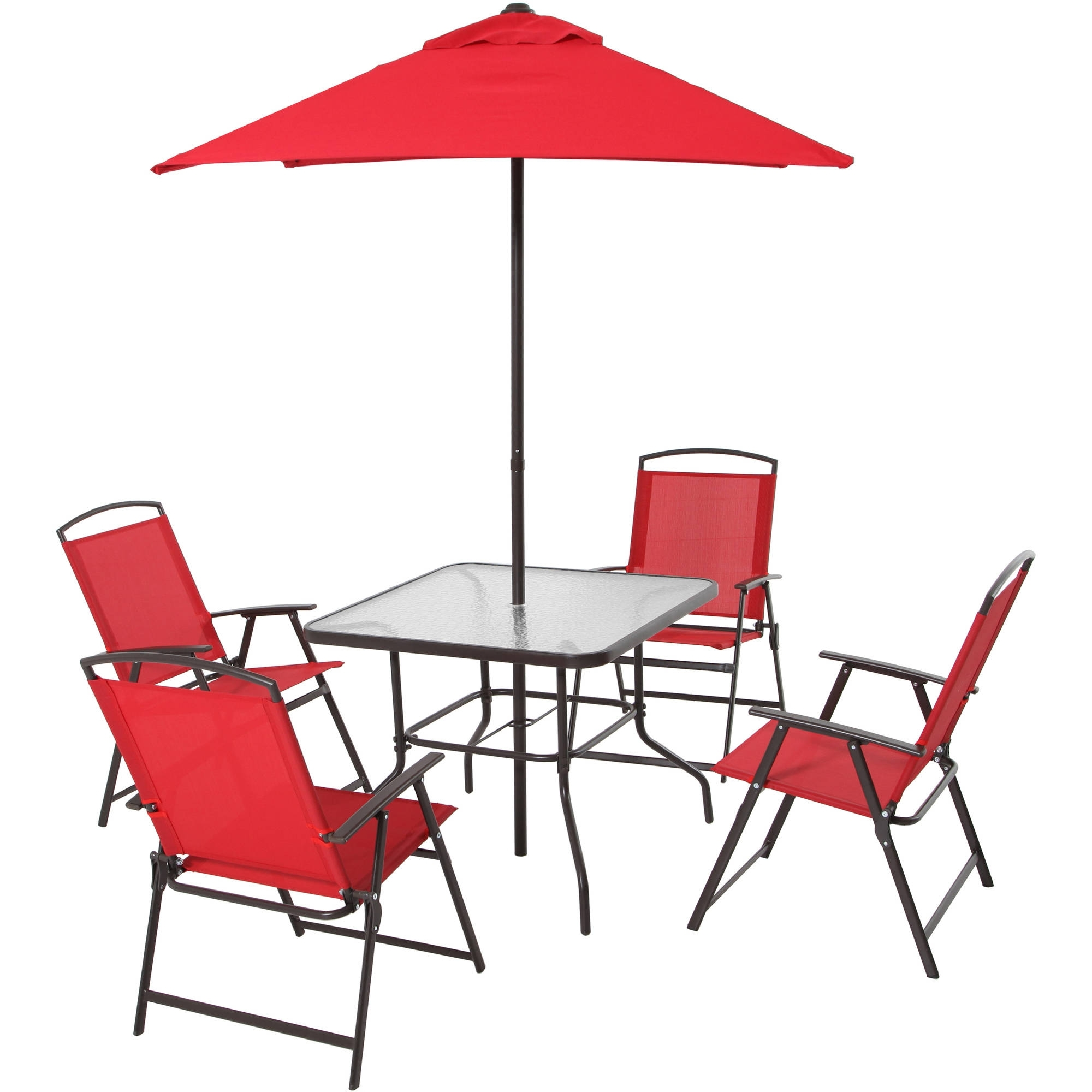 Well Known Patio Dining Set Folding Chairs Outdoor Furniture Metal Frame With Folding Dining Table And Chairs Sets (View 19 of 25)