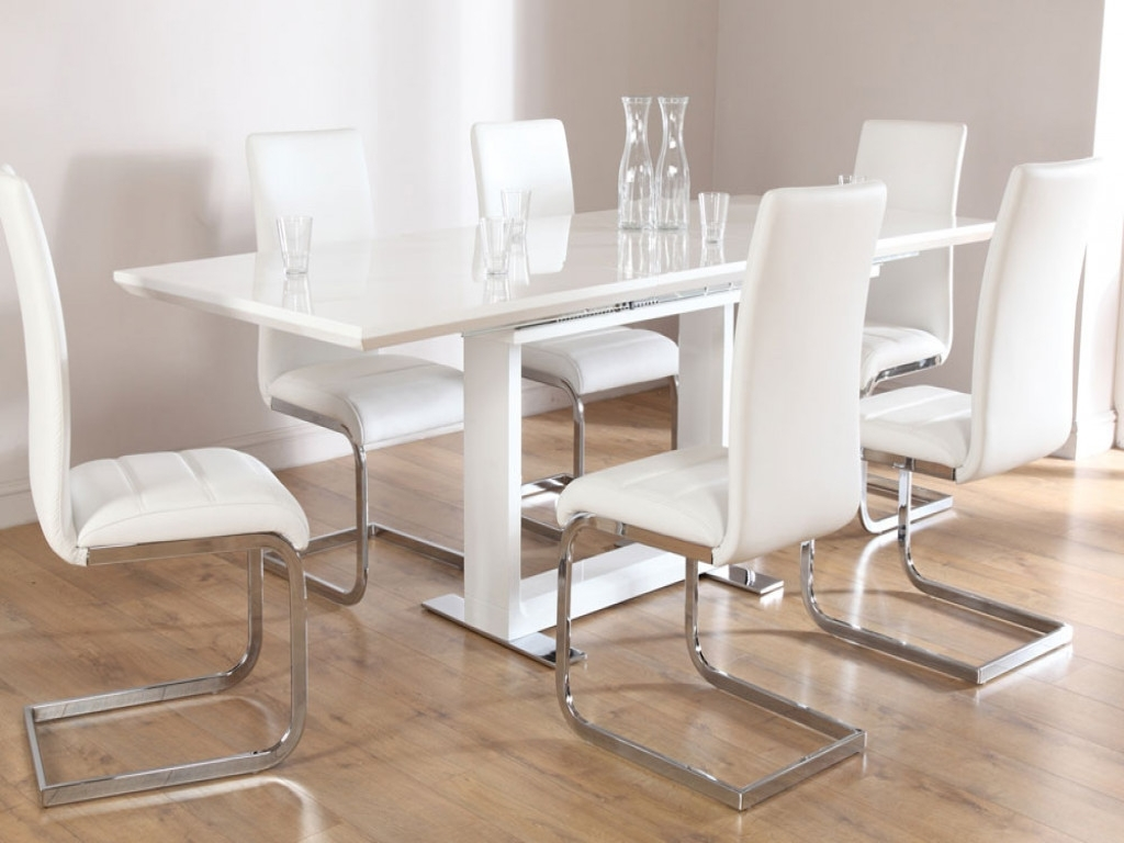 Well Known Perth White Dining Chairs For Furniture: White Dining Room Table And Chairs Elegant Monaco White (View 24 of 25)