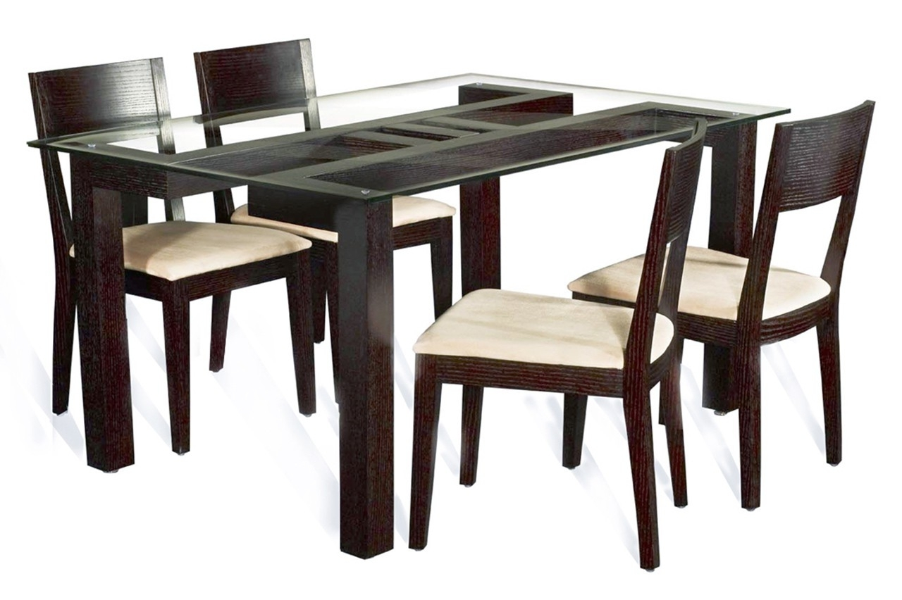 Well Known Rectangle Flat Polished Edge Glass Dining Table Top With Square Intended For Wood Glass Dining Tables (View 16 of 25)