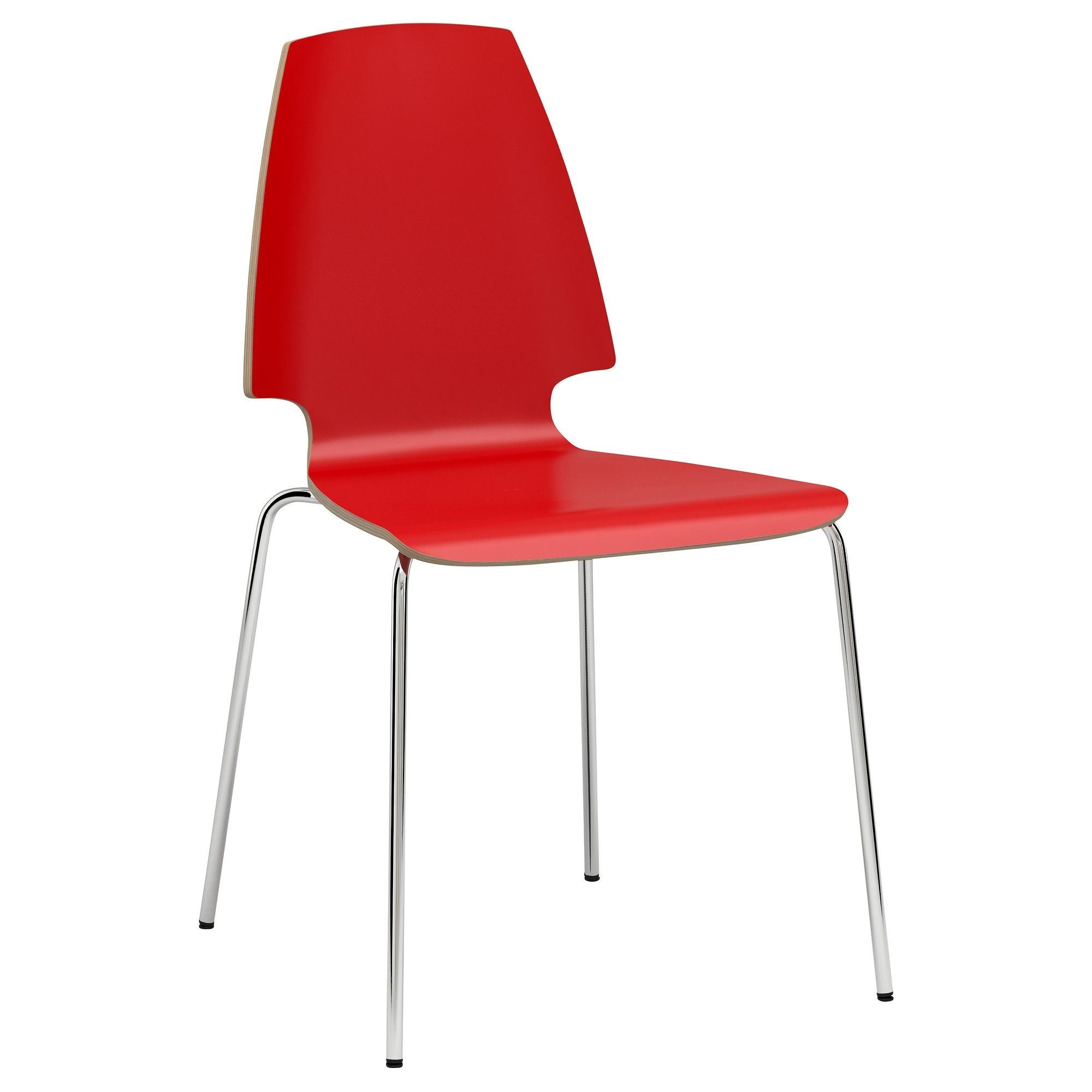 Well Known Red Dining Chairs Within Vilmar Chair – Red/chrome Plated – Ikea. Only $ (View 24 of 25)